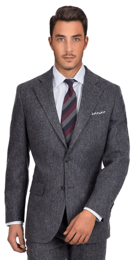 Dark Grey Donegal Tweed Suit