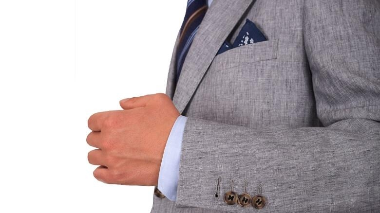 Dark Grey-Linen-Tuxedo-Close-Up1