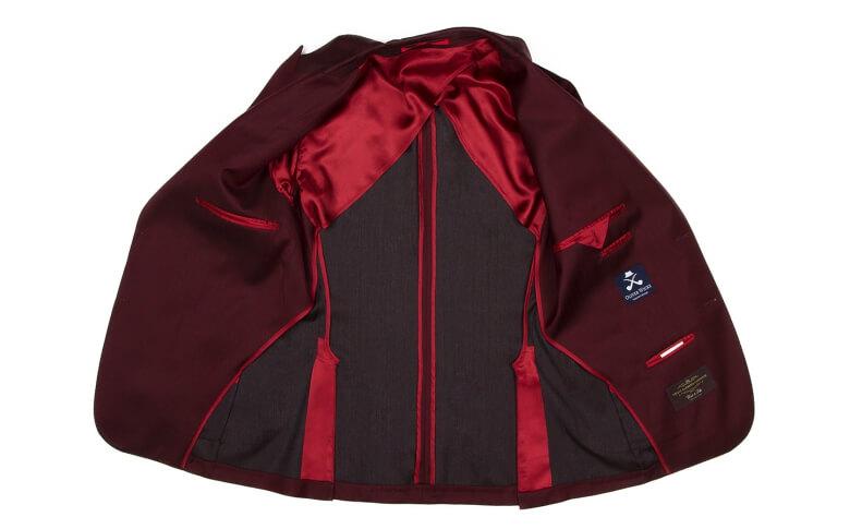 Dark Red Opened Suit Jacket