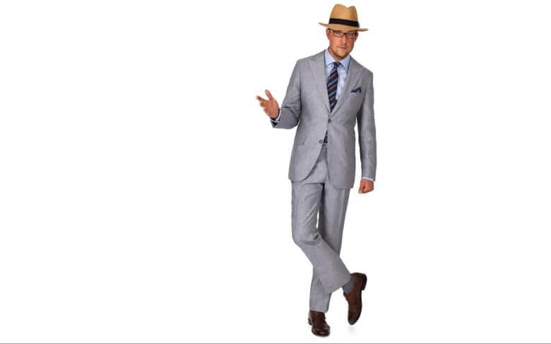 Man With Light Grey Suit