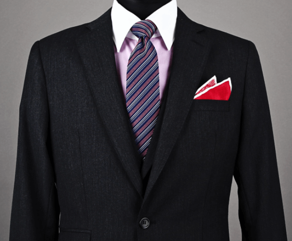 Pocket Square Two-Point Fold Example
