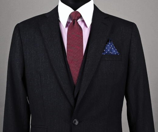 Pocket Square Winged Puff Example
