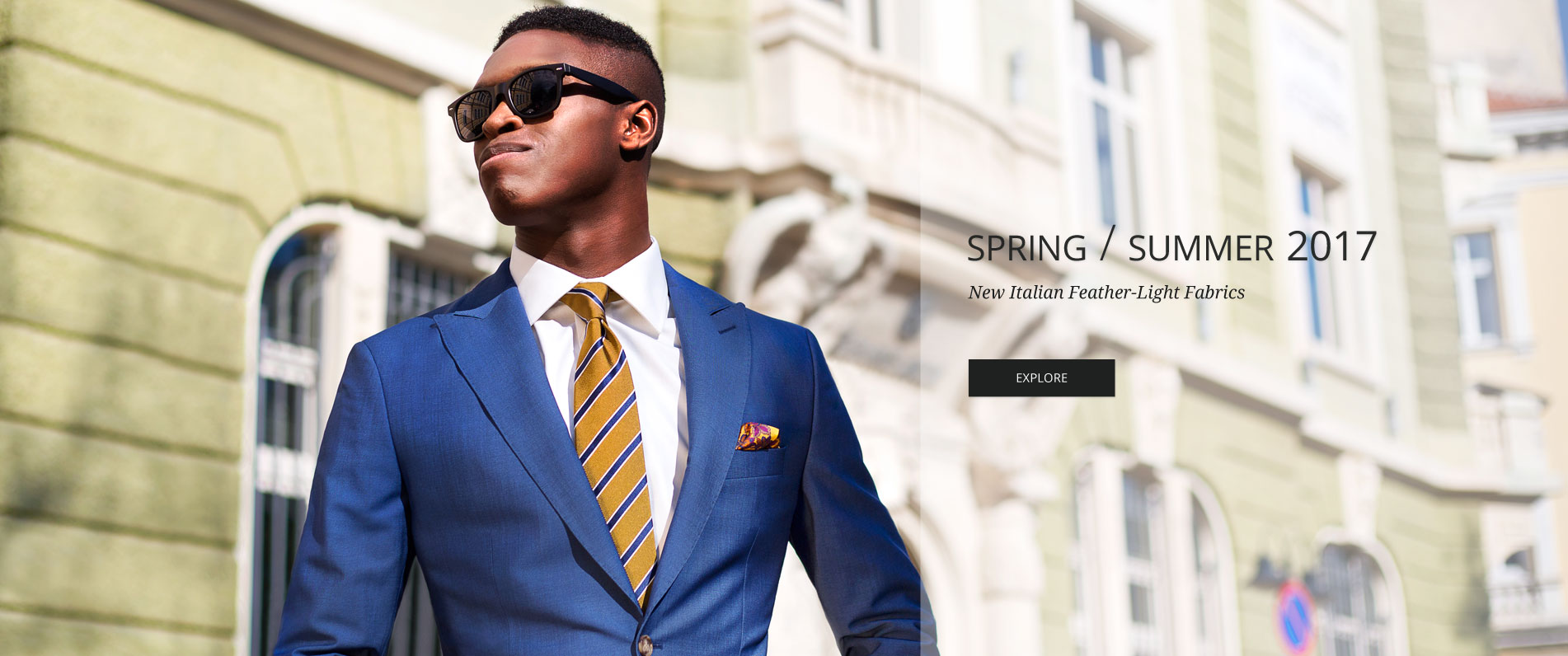 Men's Custom Suits - Tailored in Europe from fine Italian wool