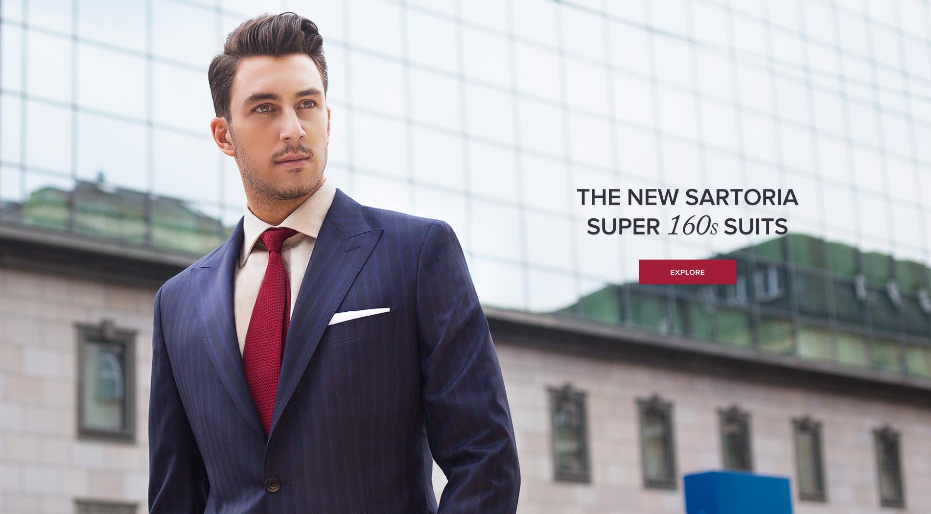 New Sartoria Super 160s Suits