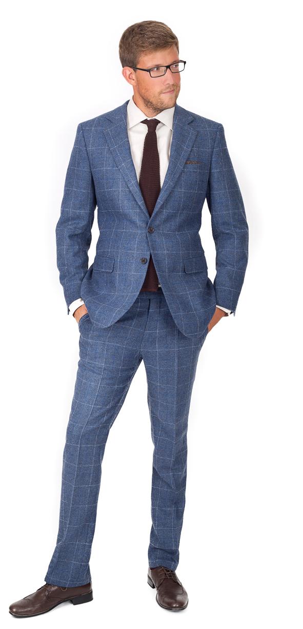 Shetland Check Tweed Suit