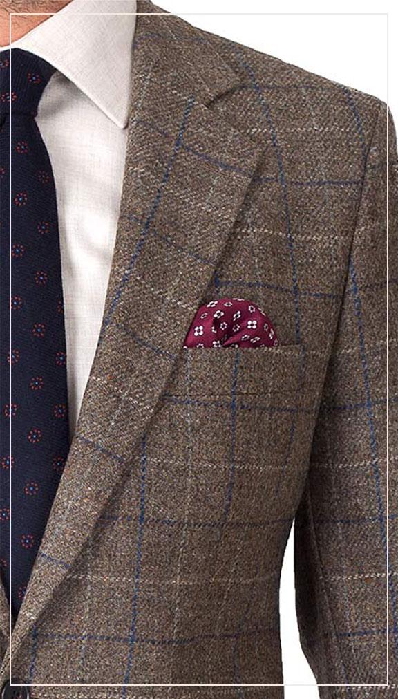 Brown Shetland Tweed