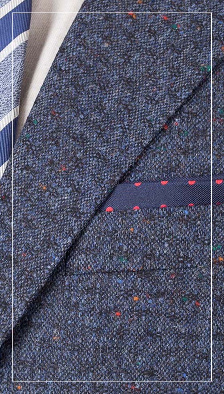 Blue Donegal Tweed Suit