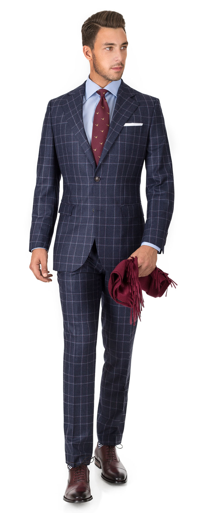 Blue Plaid Flannel Suit