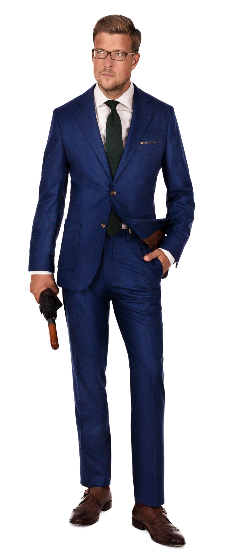 Royal Blue Flannel Suit