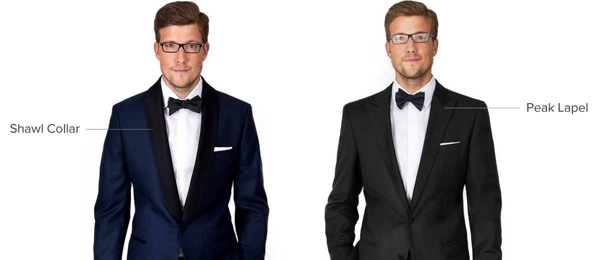 Tuxedo Peak Lapel vs. Shawl Collar