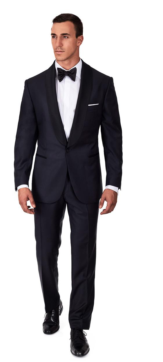 Custom Navy Blue Tuxedo