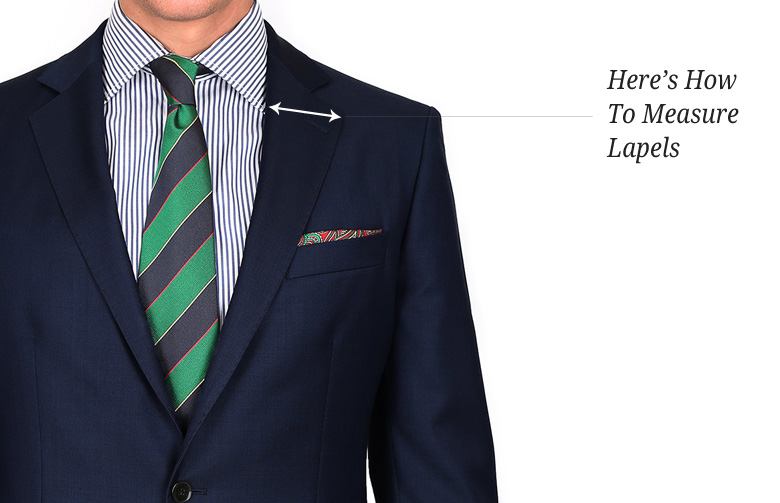 Here's how to measure lapels