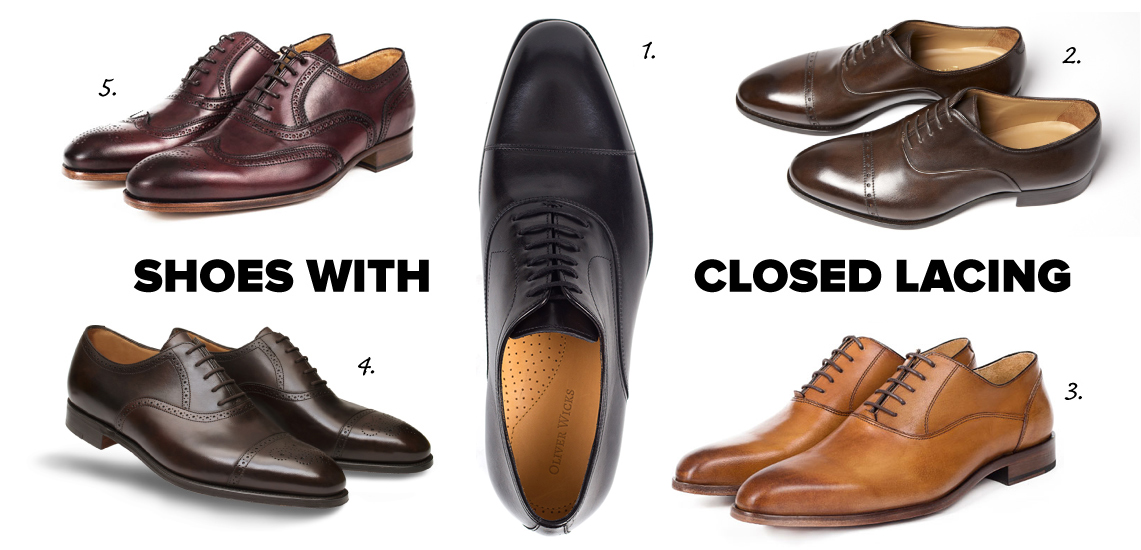 oxfords shoes with closed lacing