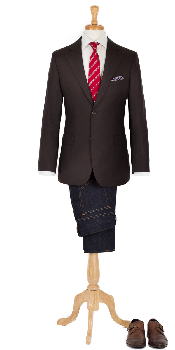 Brown Sport Coat & Jeans
