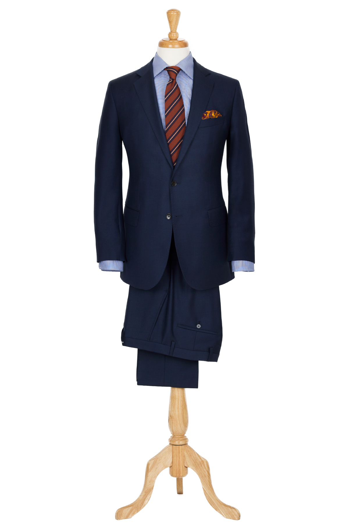navy 2 piece suit styling