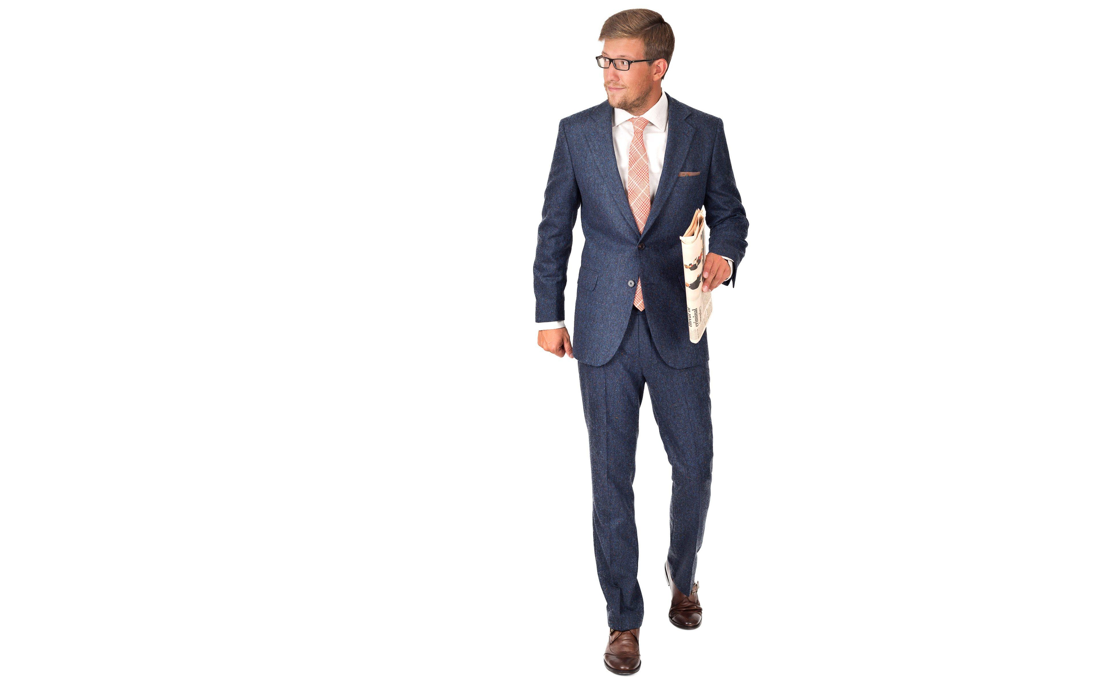 Suit in Blue Donegal Tweed