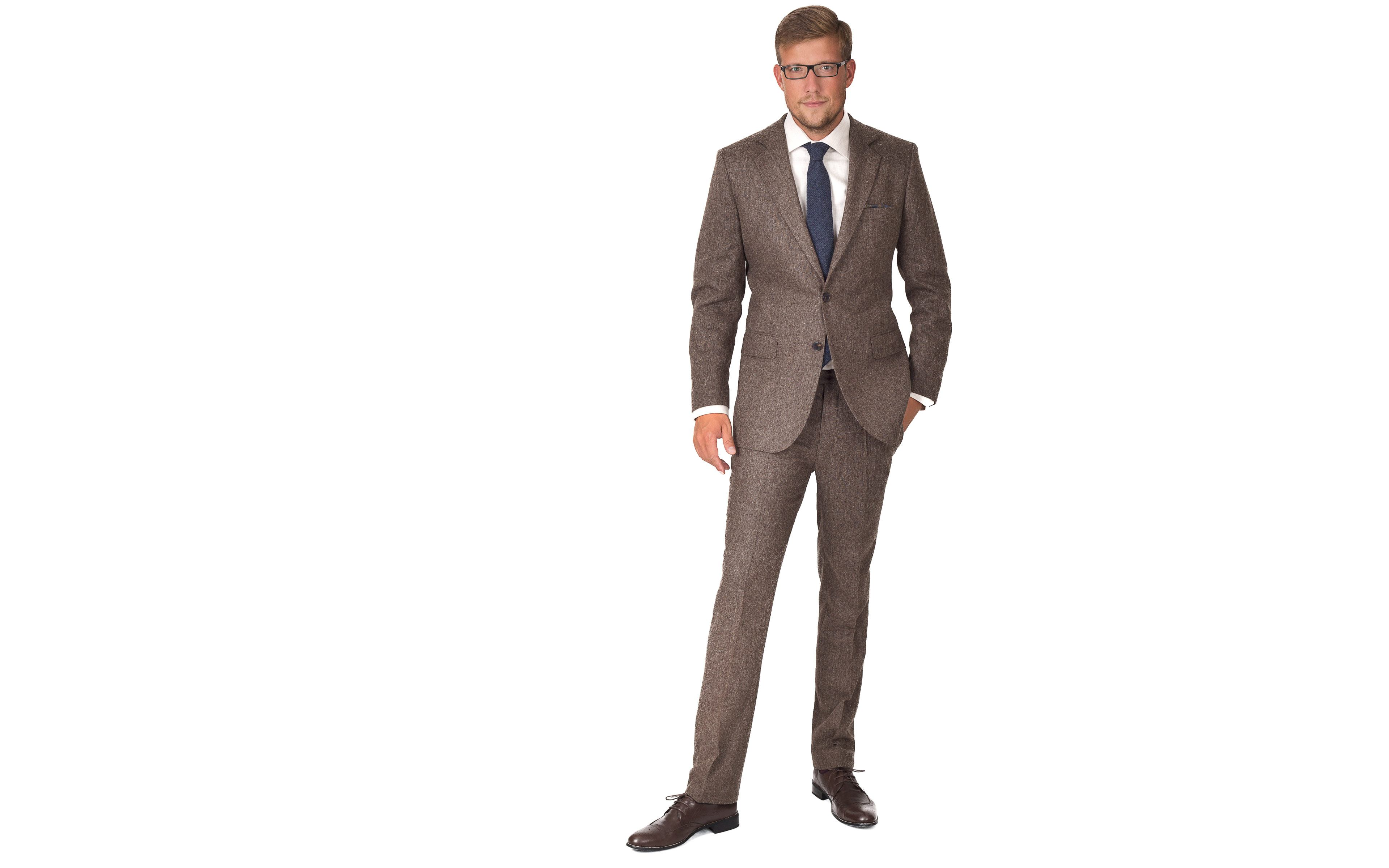 Suit in Natural Brown Tweed