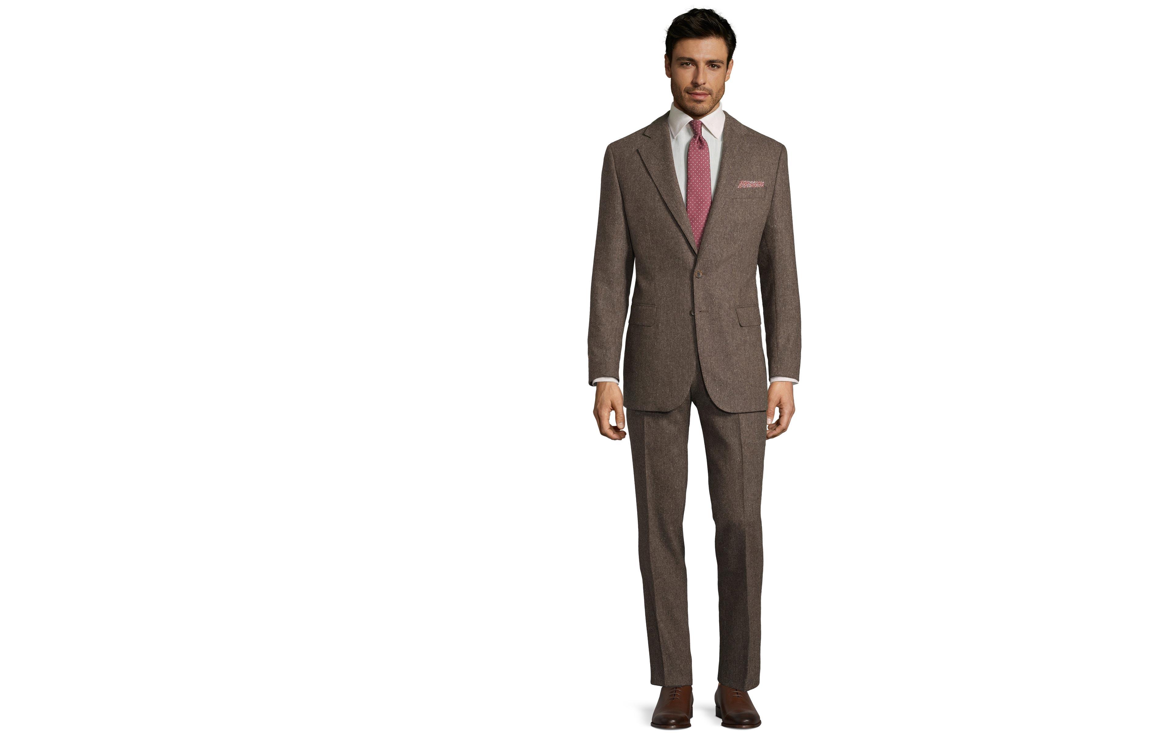 Suit in Natural Brown Tweed