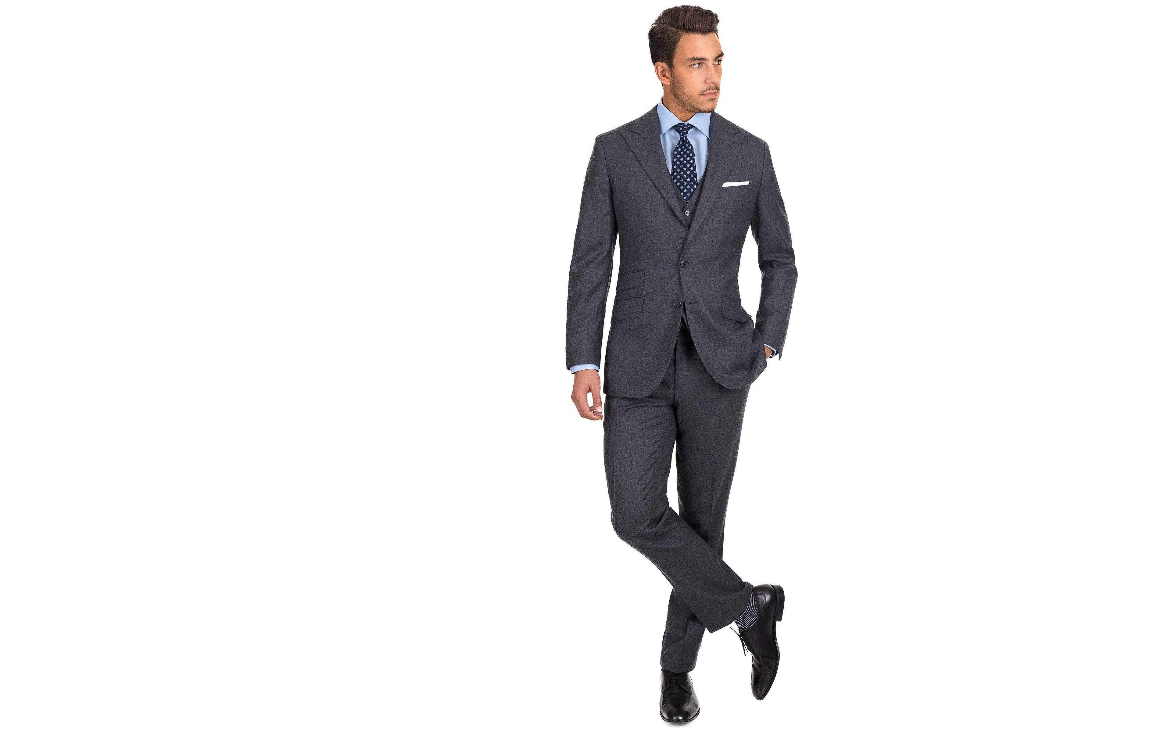 11 oz Grey Twill 3 Piece Suit