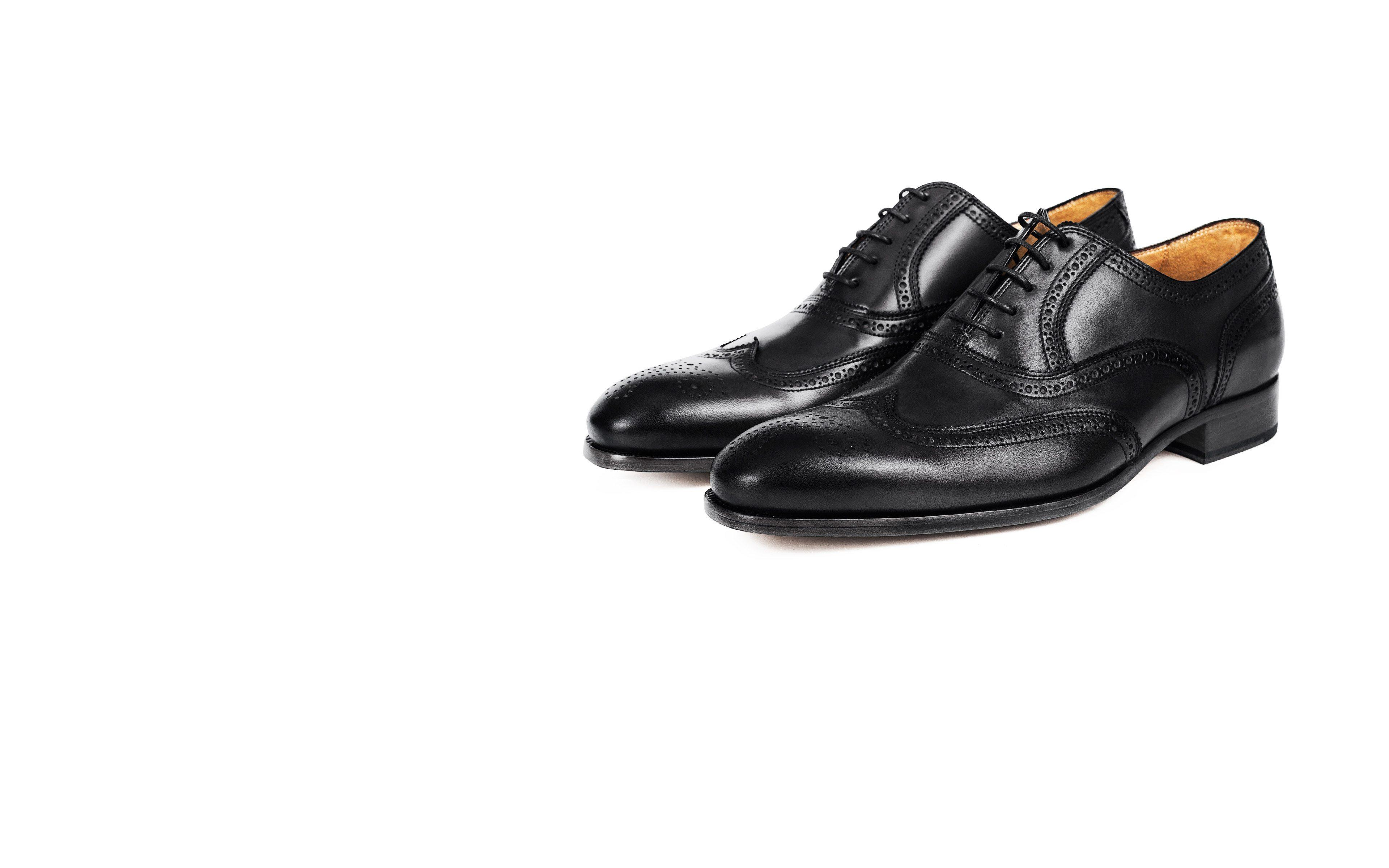 Black Wingtip Oxford
