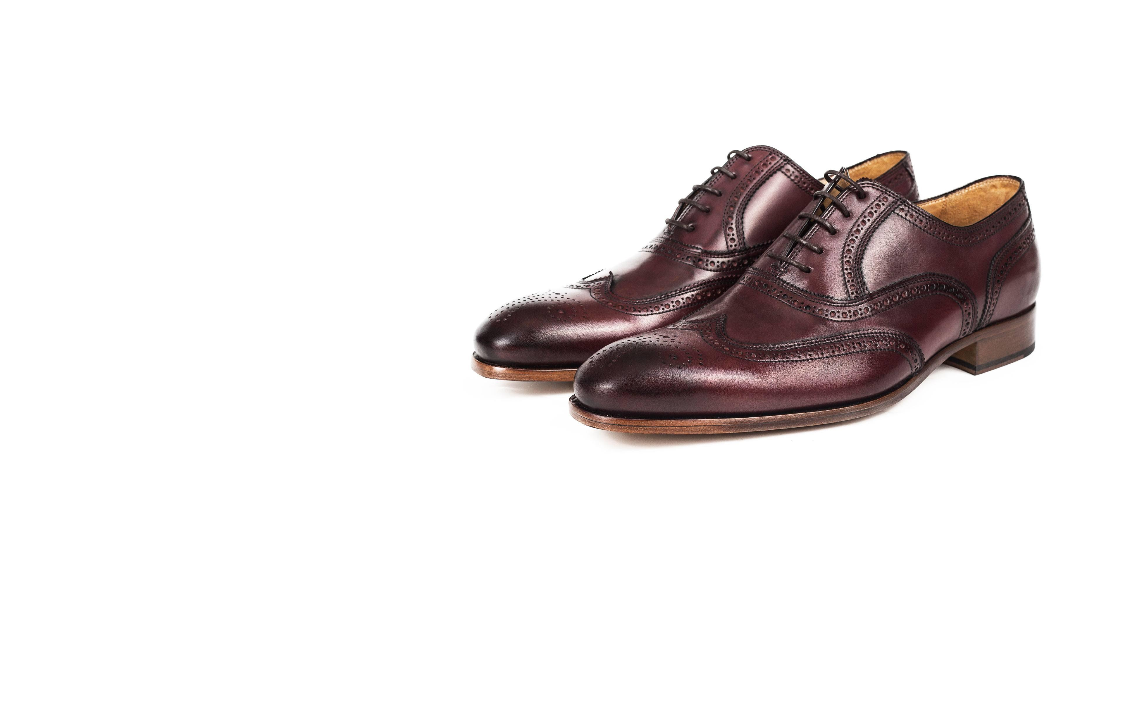 Burgundy Wingtip Oxford