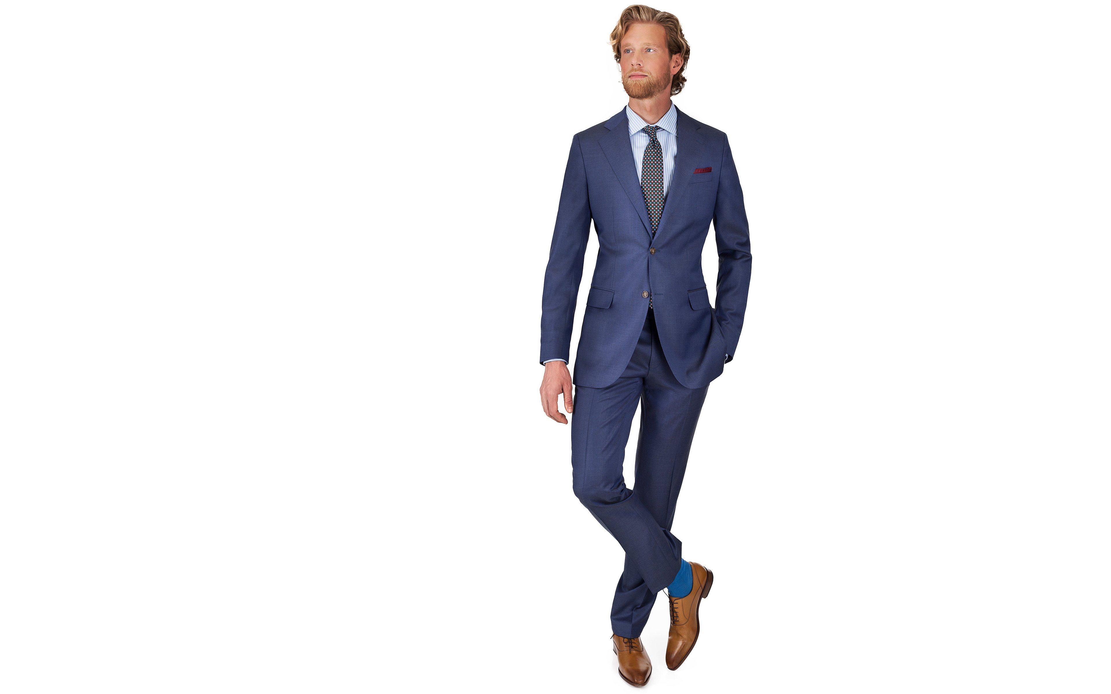 Sky Blue Natural Stretch Wool Suit