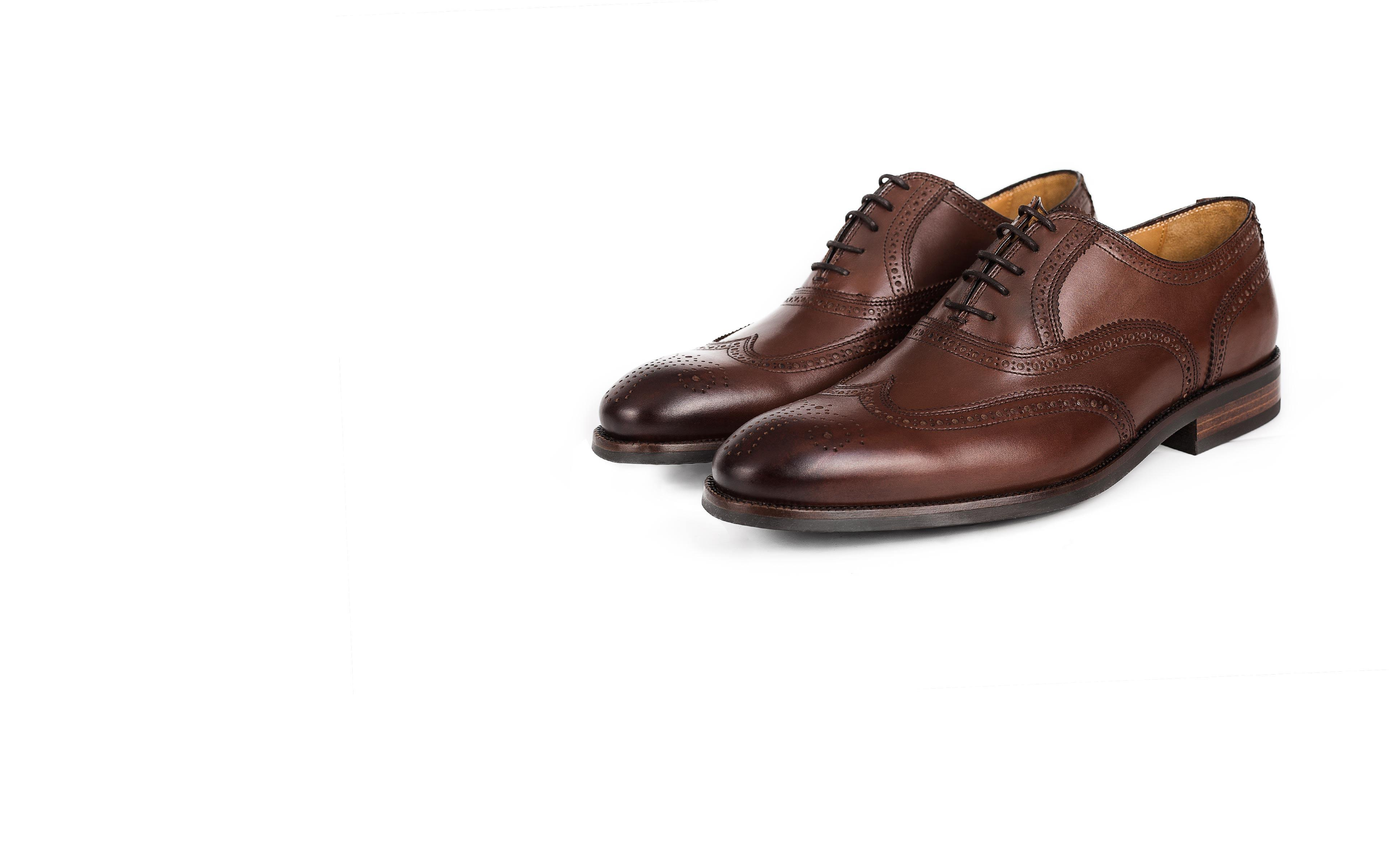 Walnut Wingtip Oxford with a Rubber Sole