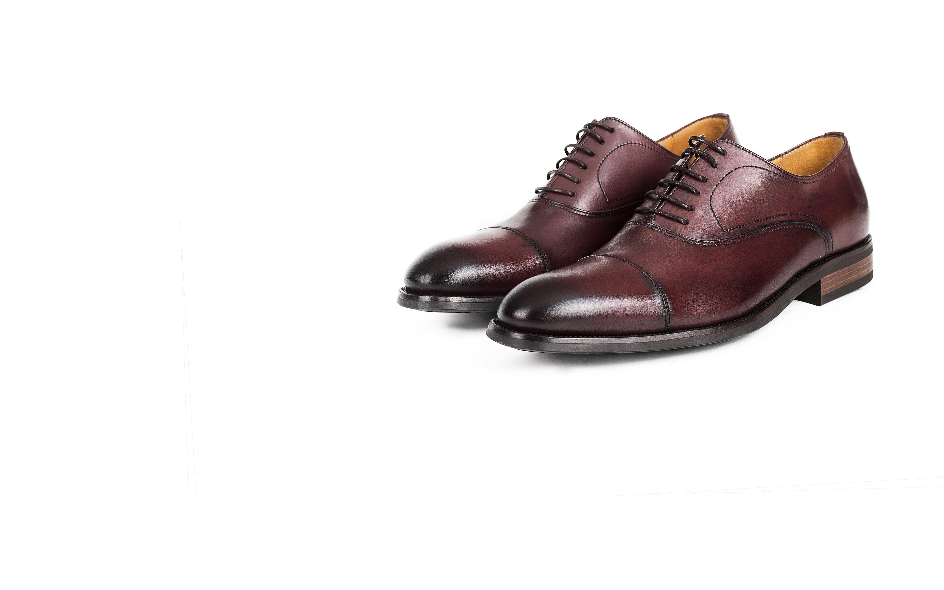 Burgundy Cap-Toe Oxford with a Rubber Sole