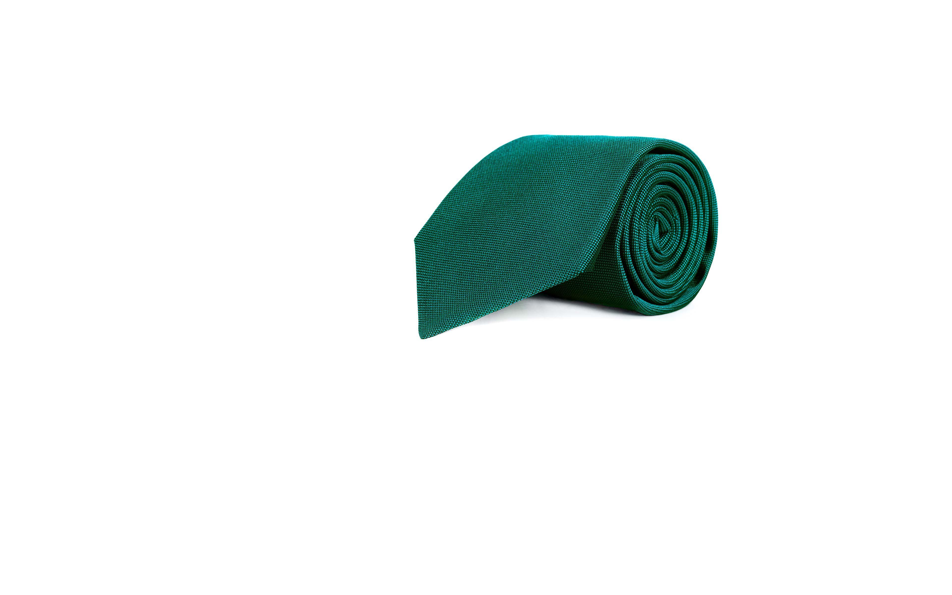 Solid Green Silk Tie