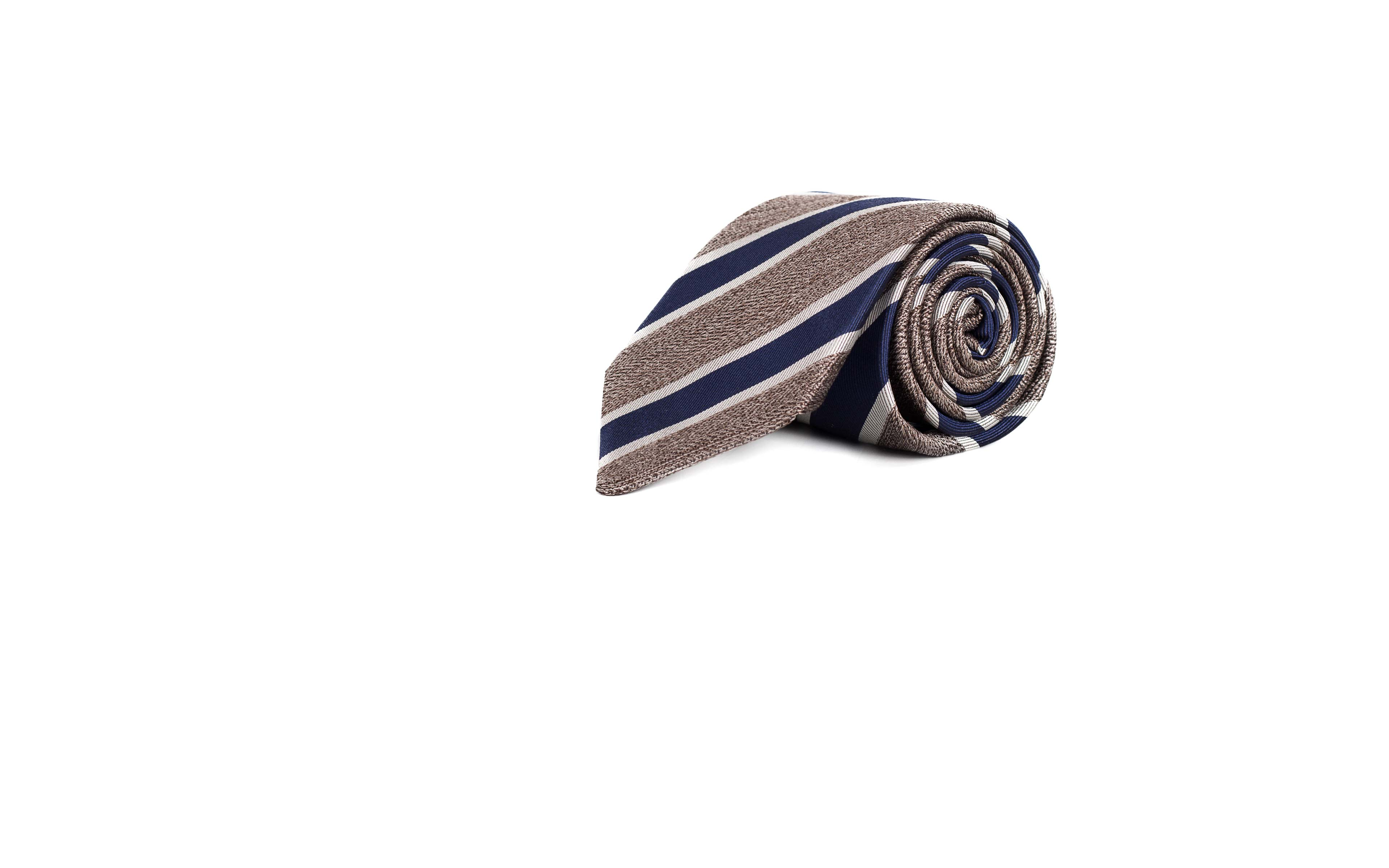 Navy & Khaki Silk Tie