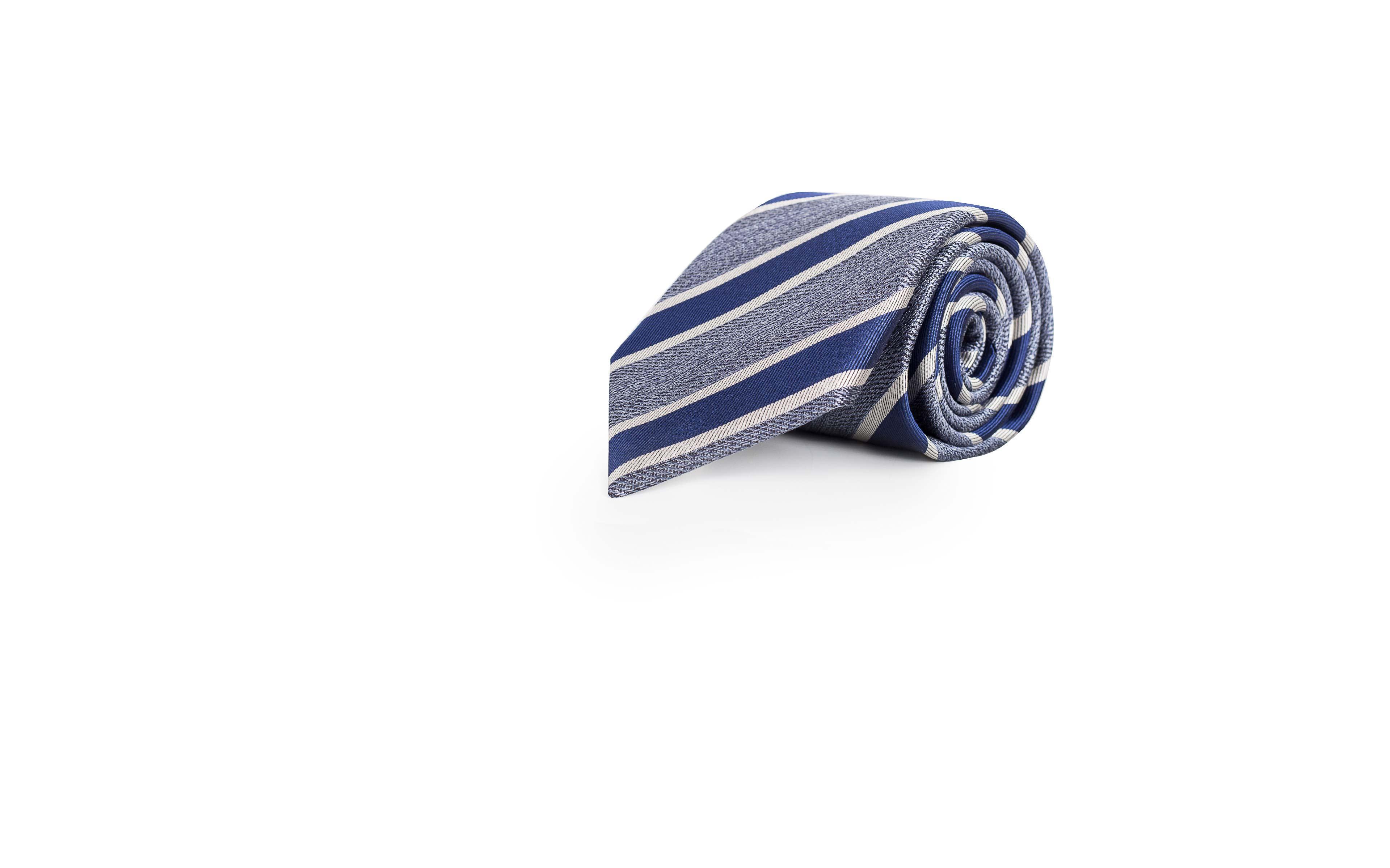 Navy & Blue Silk Tie