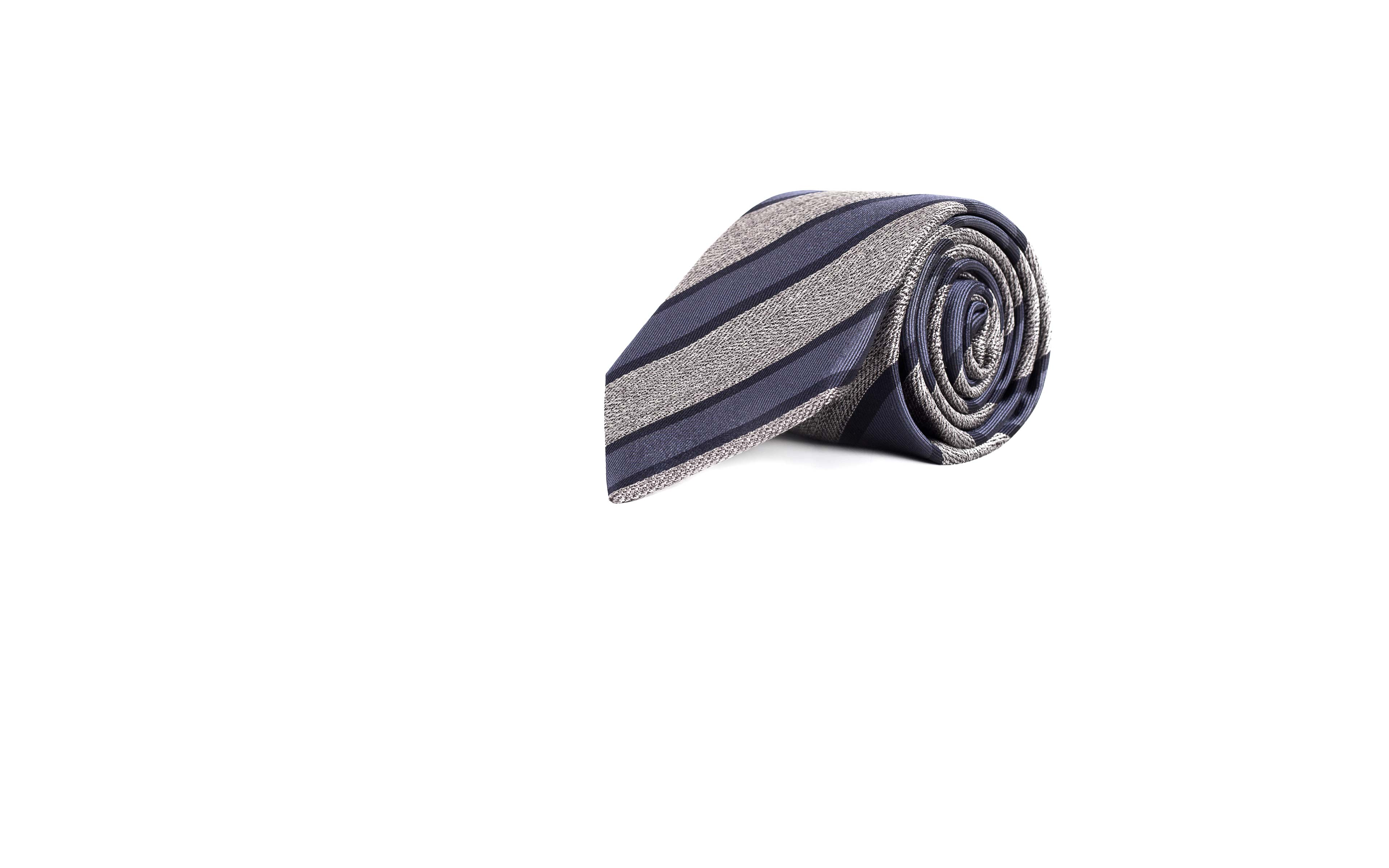 Navy & Grey Silk Tie