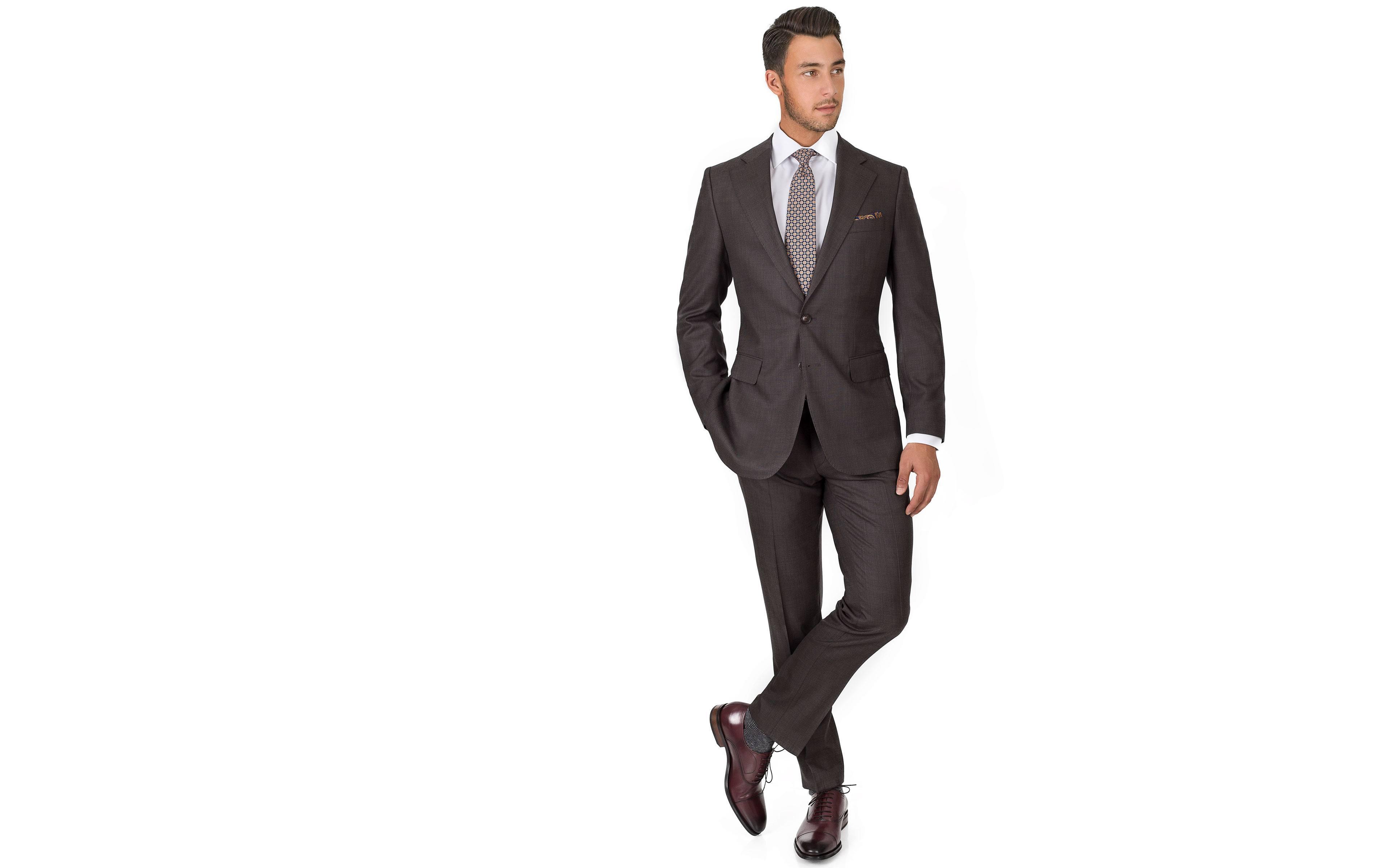 Vendetta Premium Charcoal Brown Birdseye Suit