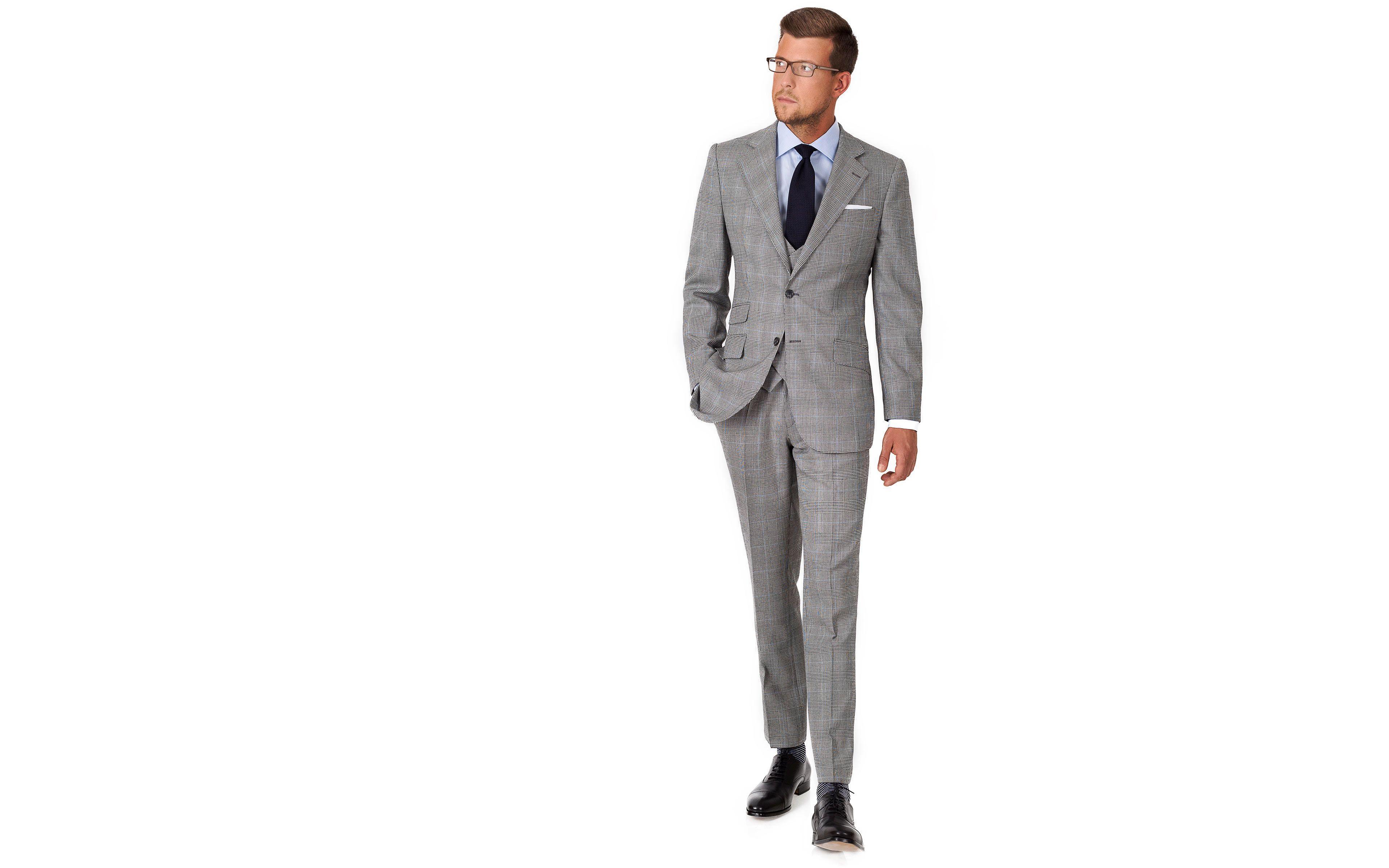 Grey Glen Plaid 3 Piece Suit