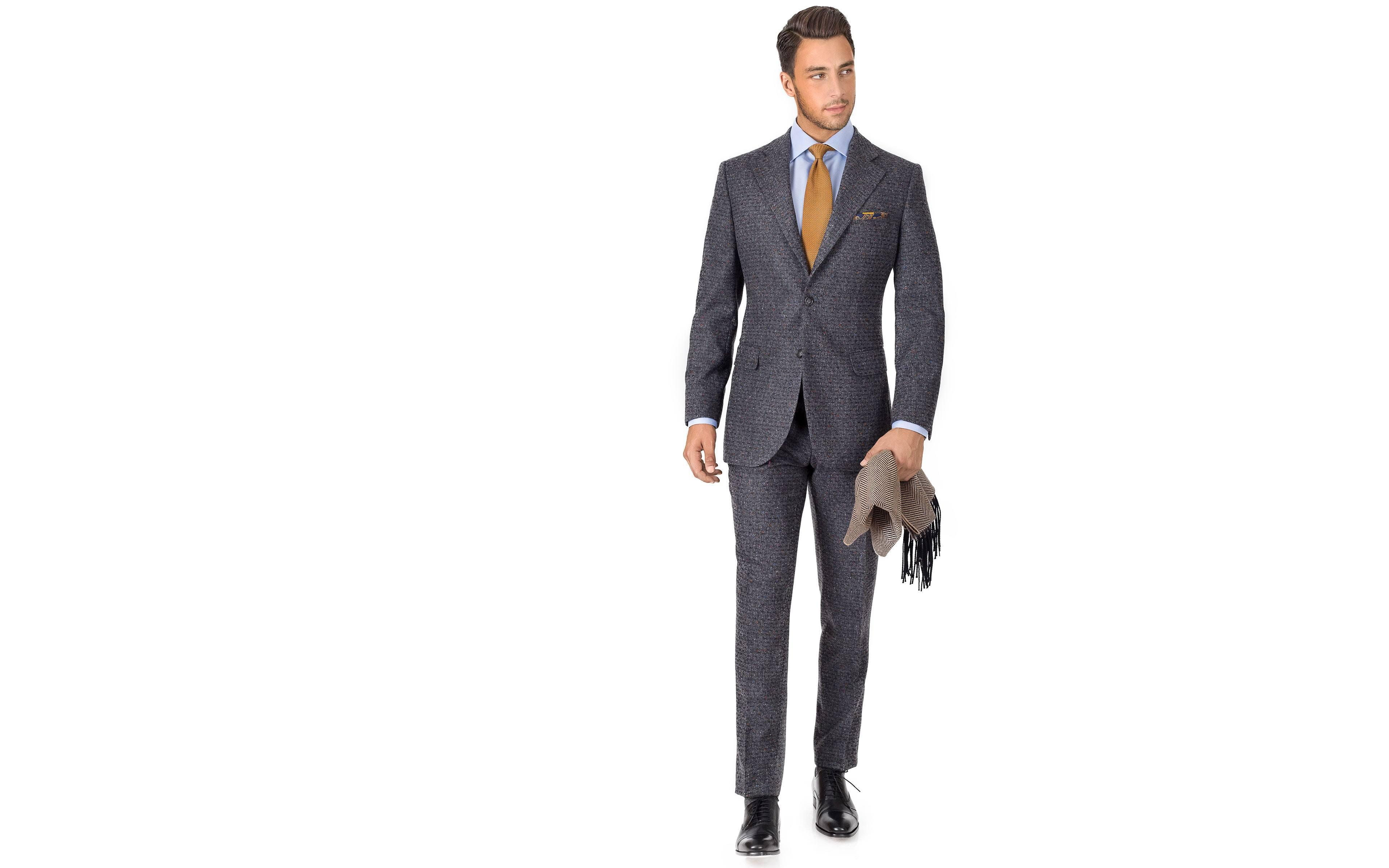 Dark Grey Donegal Shadow Tweed Suit