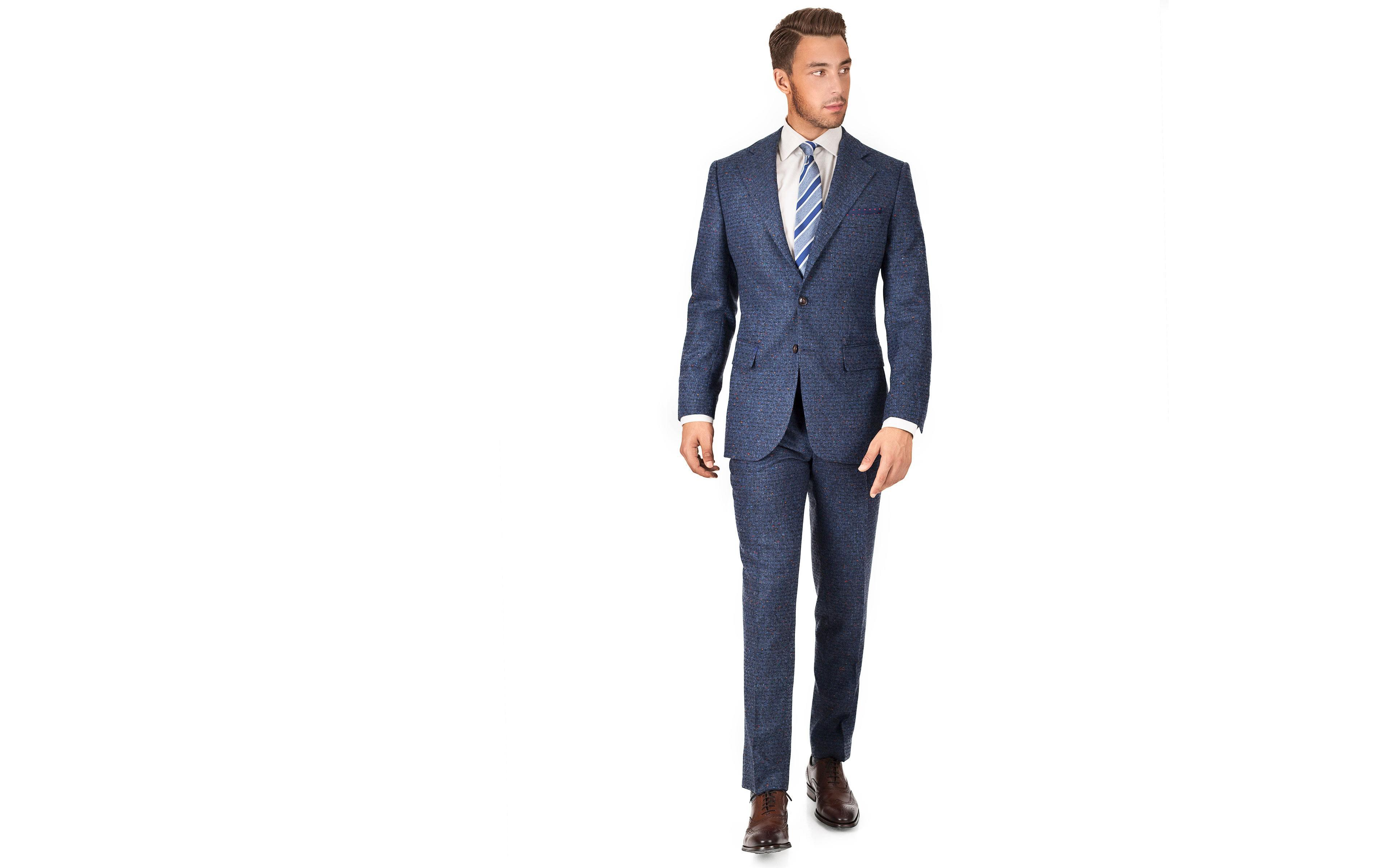 Suit in Blue Donegal Shadow Tweed