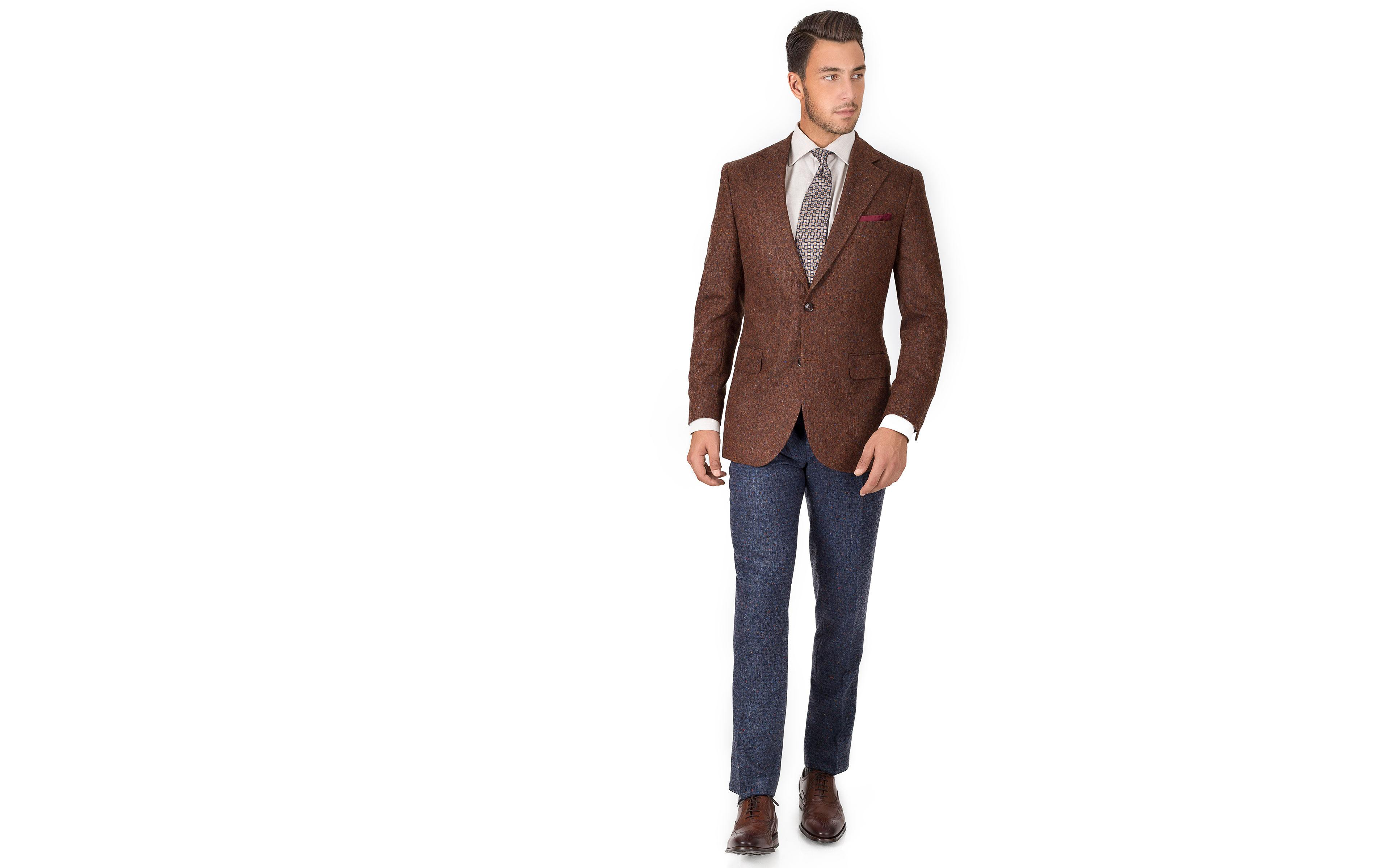 Copper Brown Donegal Tweed Blazer
