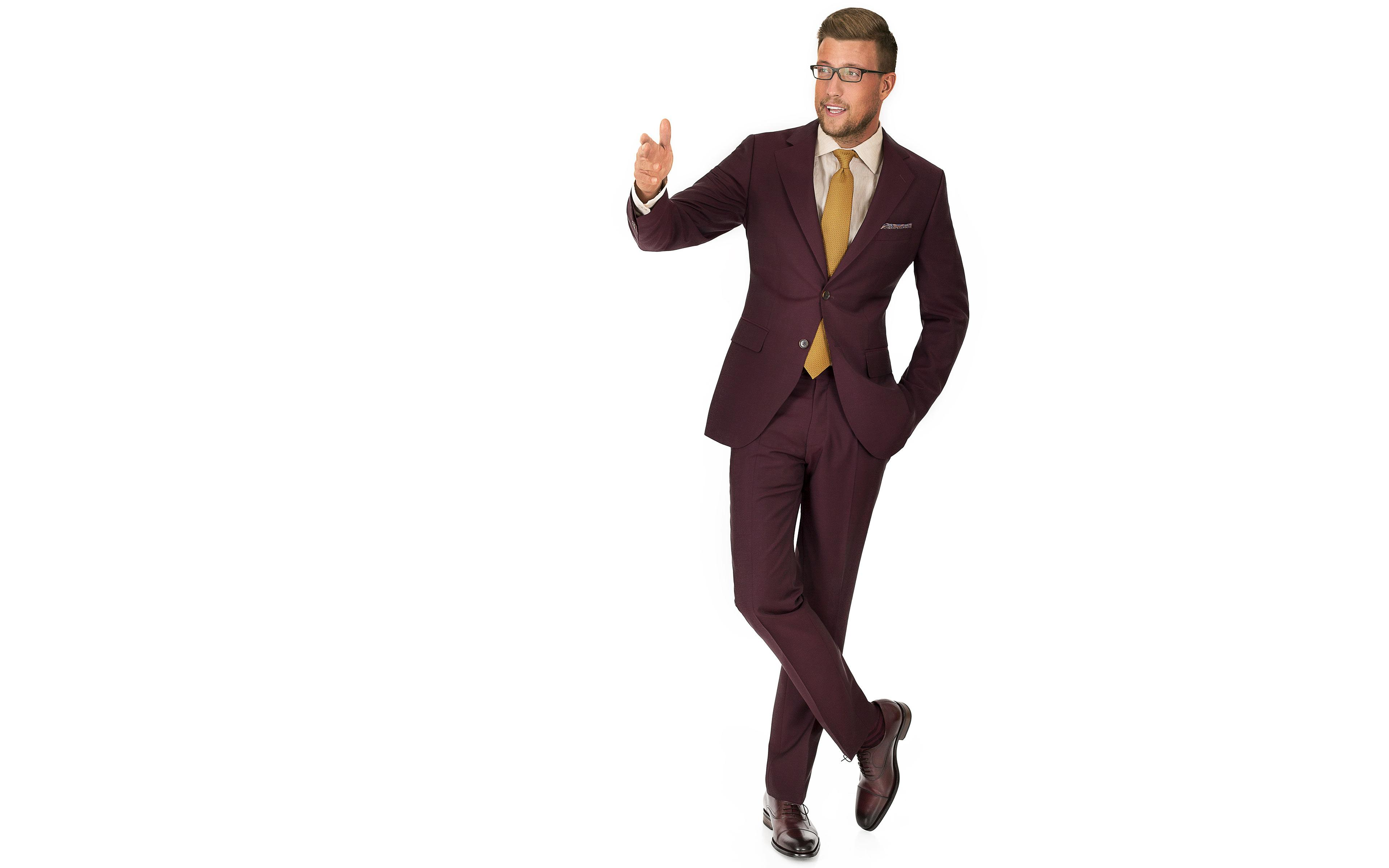 Burgundy Wool & Mohair Suit