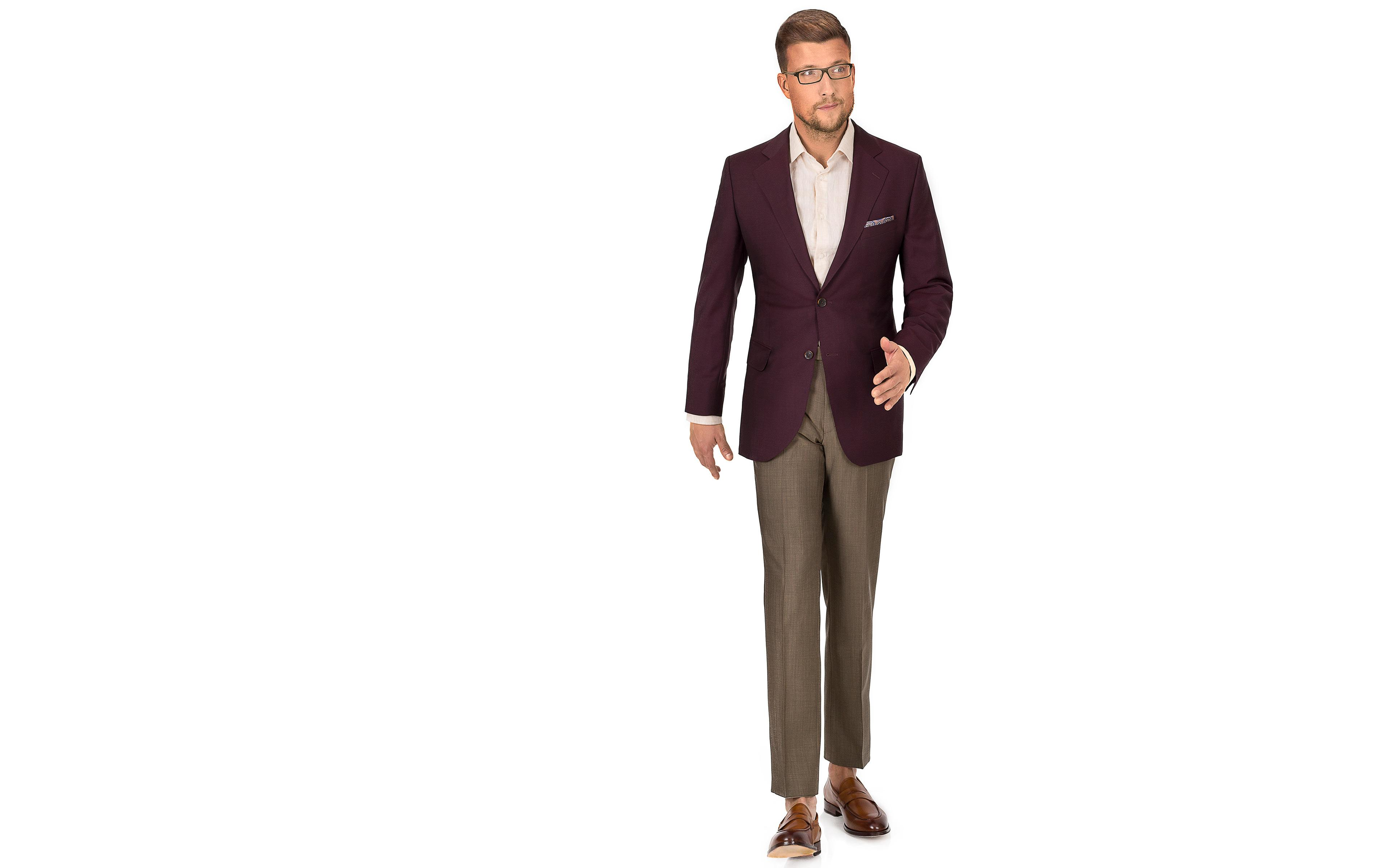 Burgundy Wool & Mohair Blazer