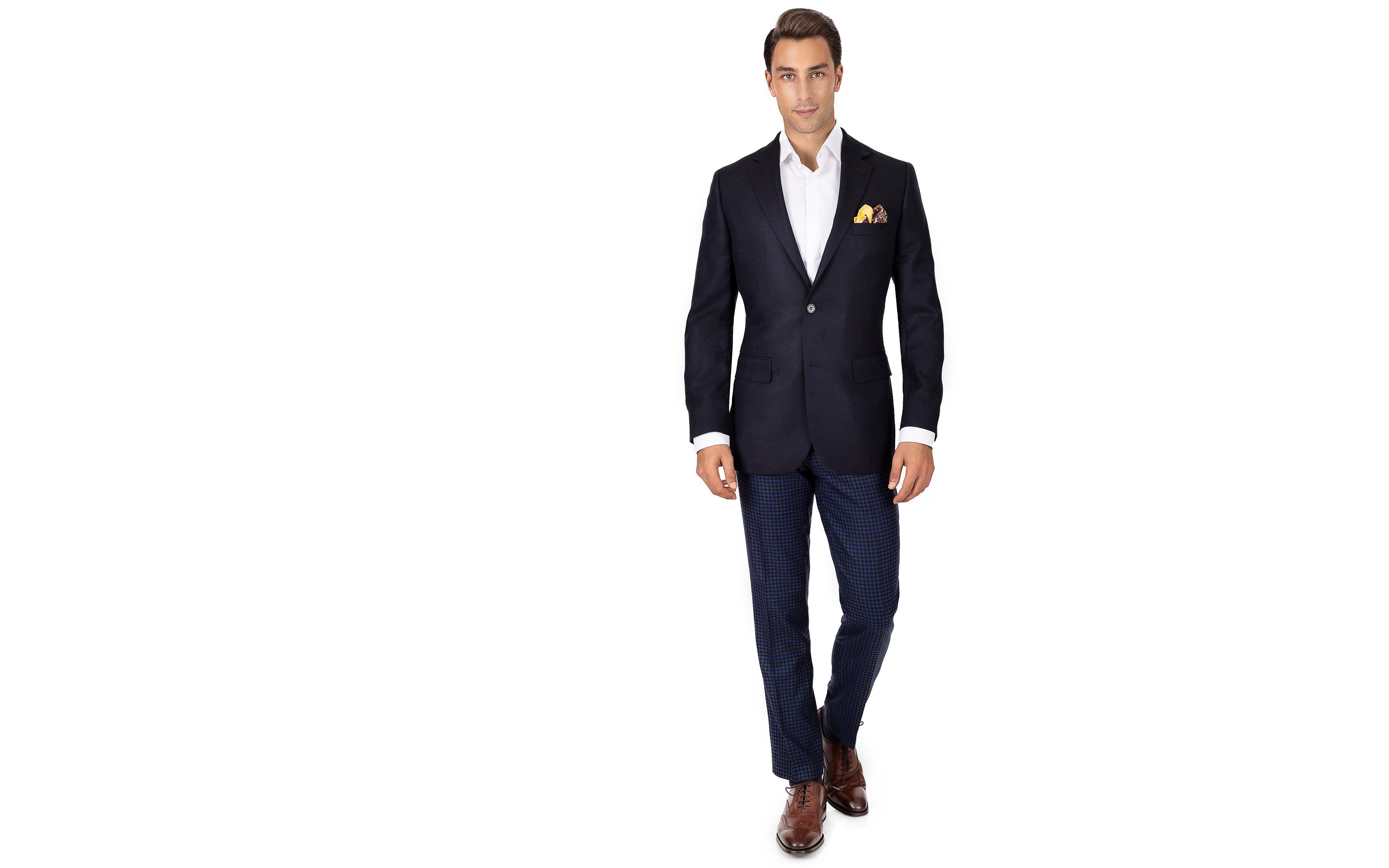 Dark Navy Wool-Silk-Cashmere Blazer