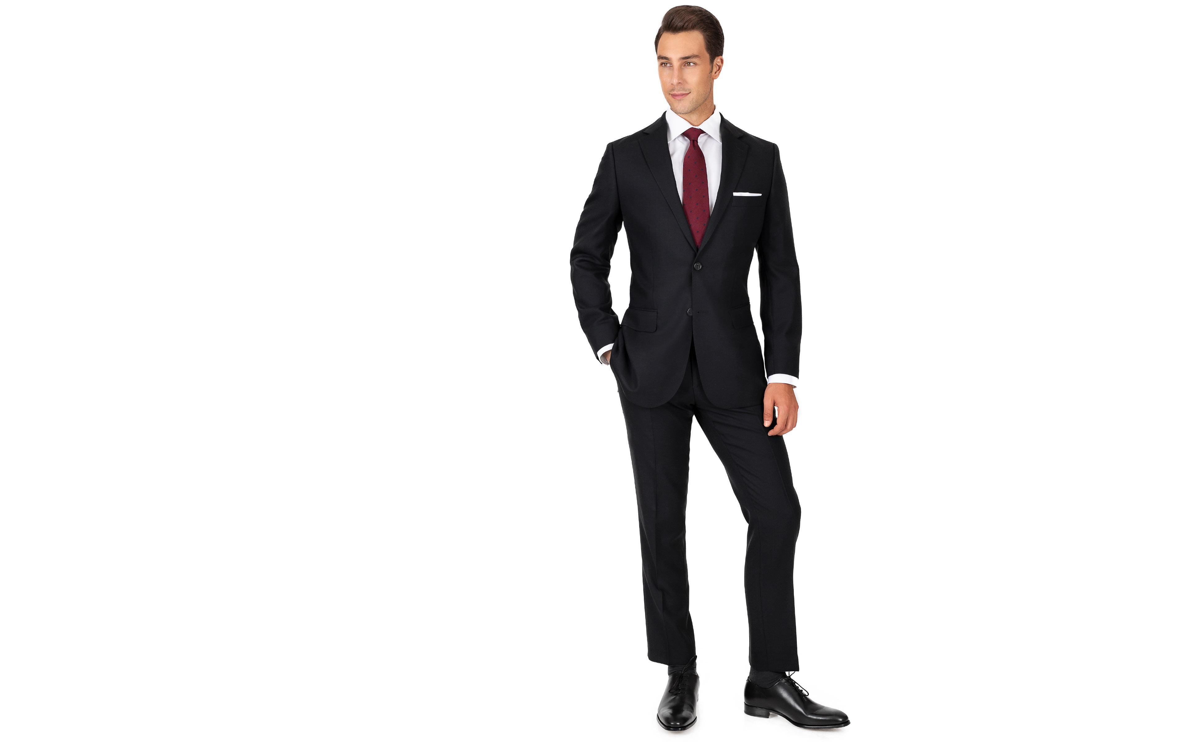 Black Hopsack Natural Stretch Suit