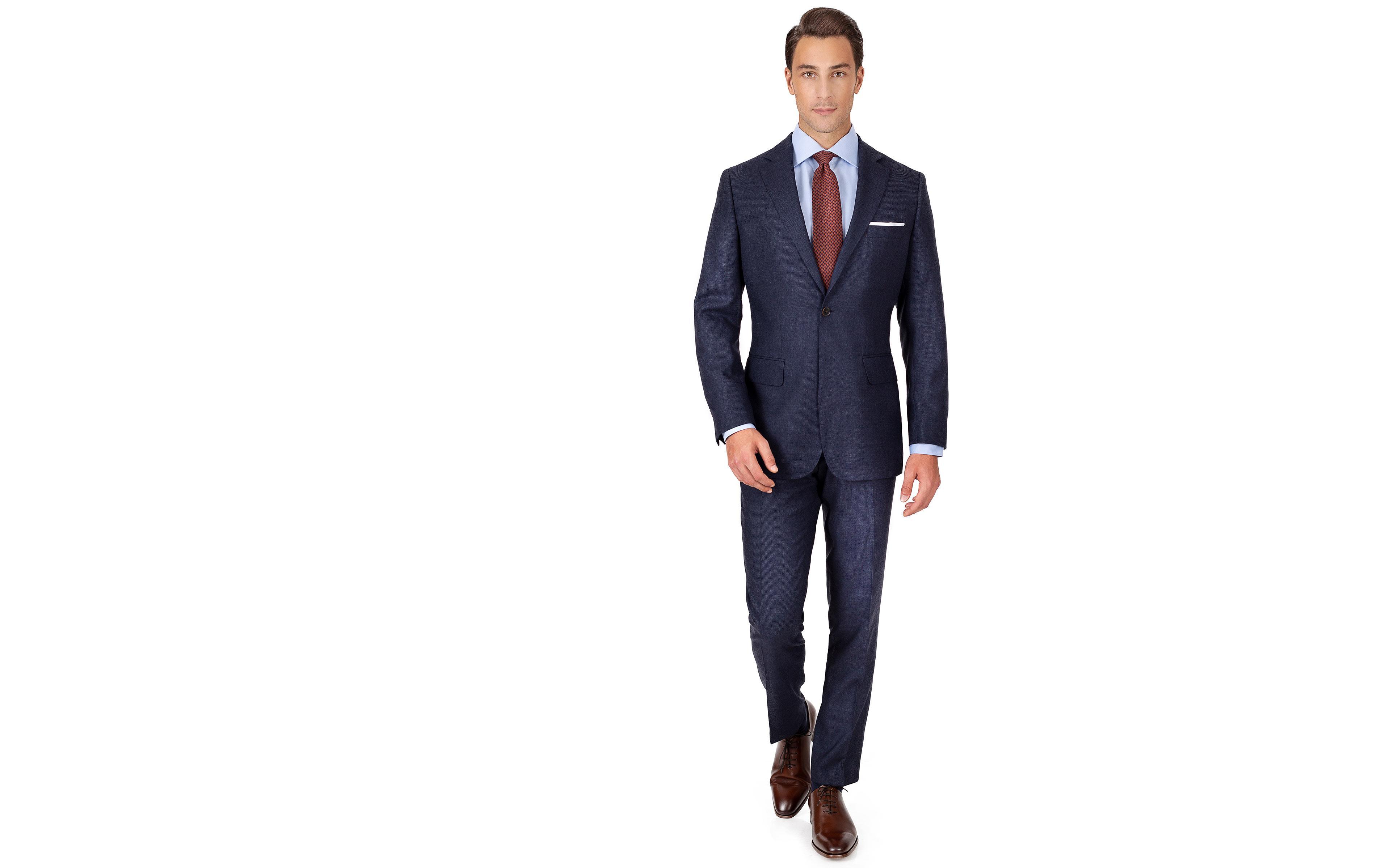 Denim Blue Birdseye Natural Stretch Suit