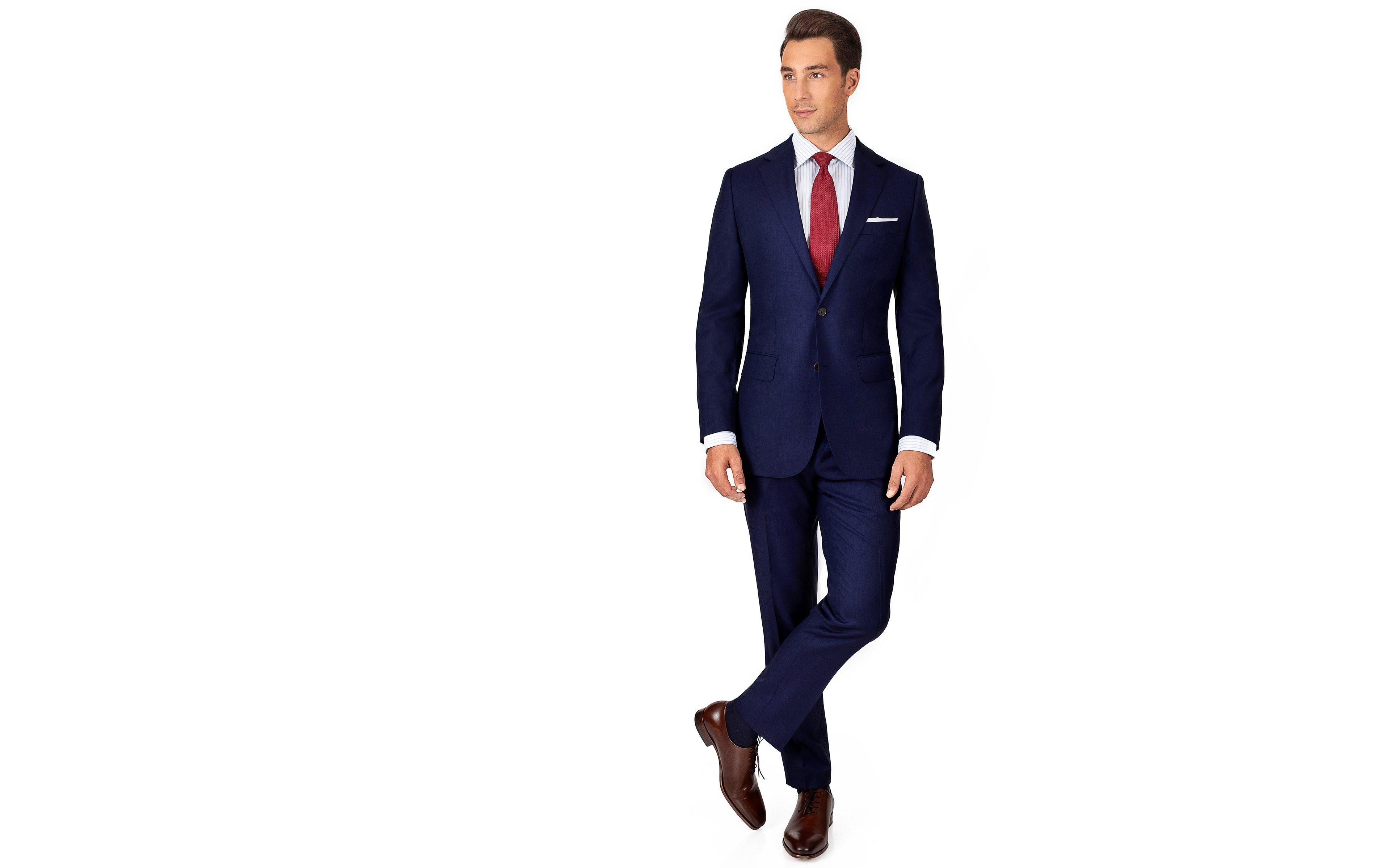 Suit in Deep Blue Pick & Pick Wool