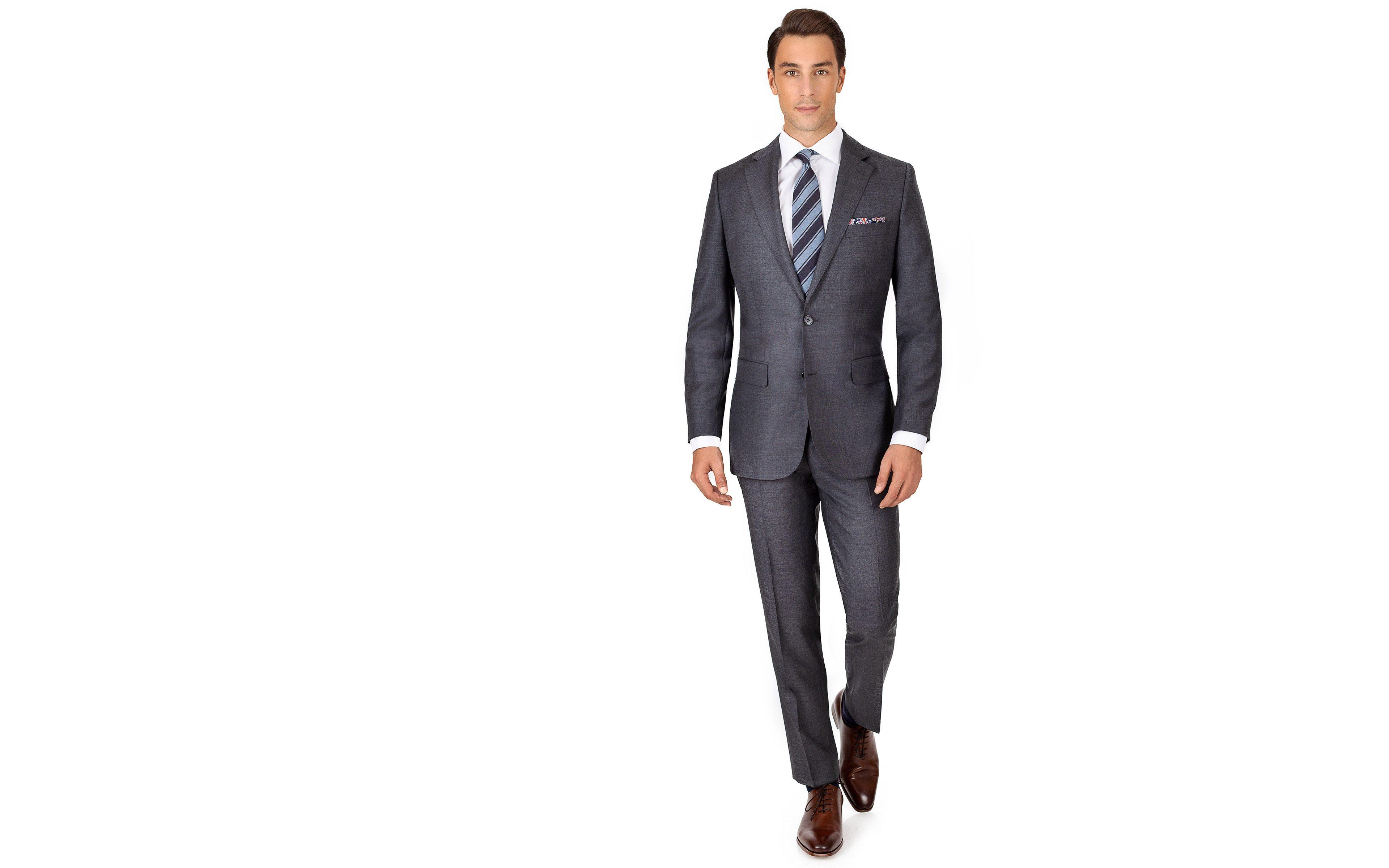 Suit in Dark Grey Pick & Pick Wool