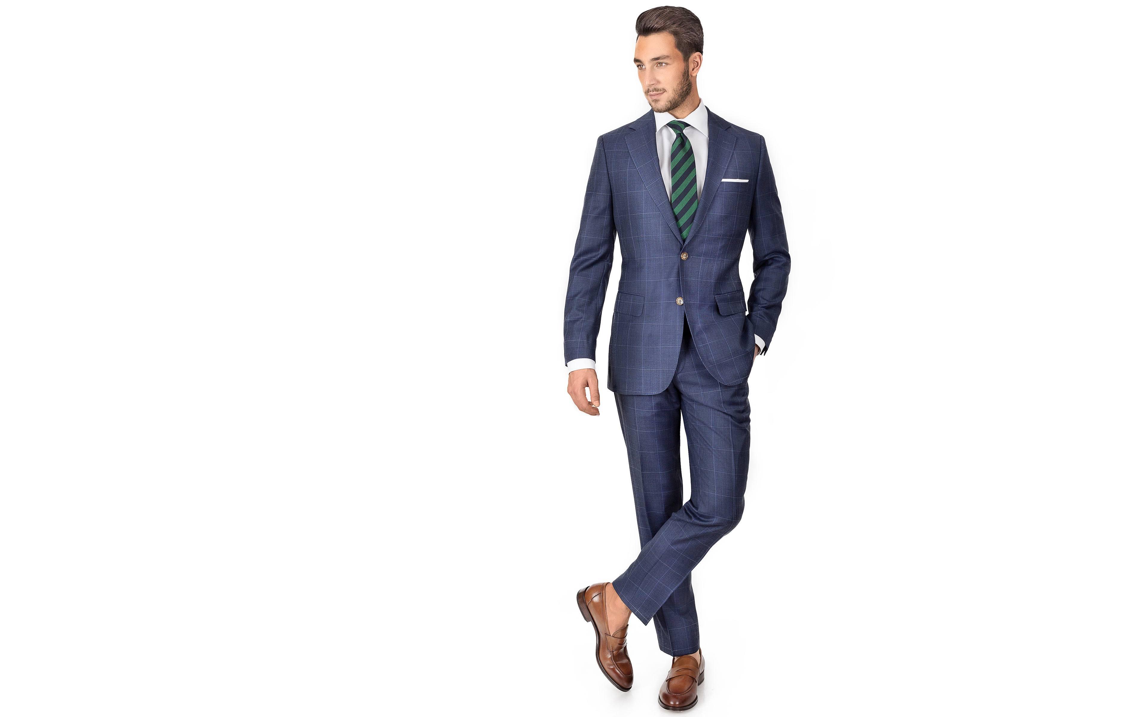 Sky Blue Windowpane Pick & Pick Suit