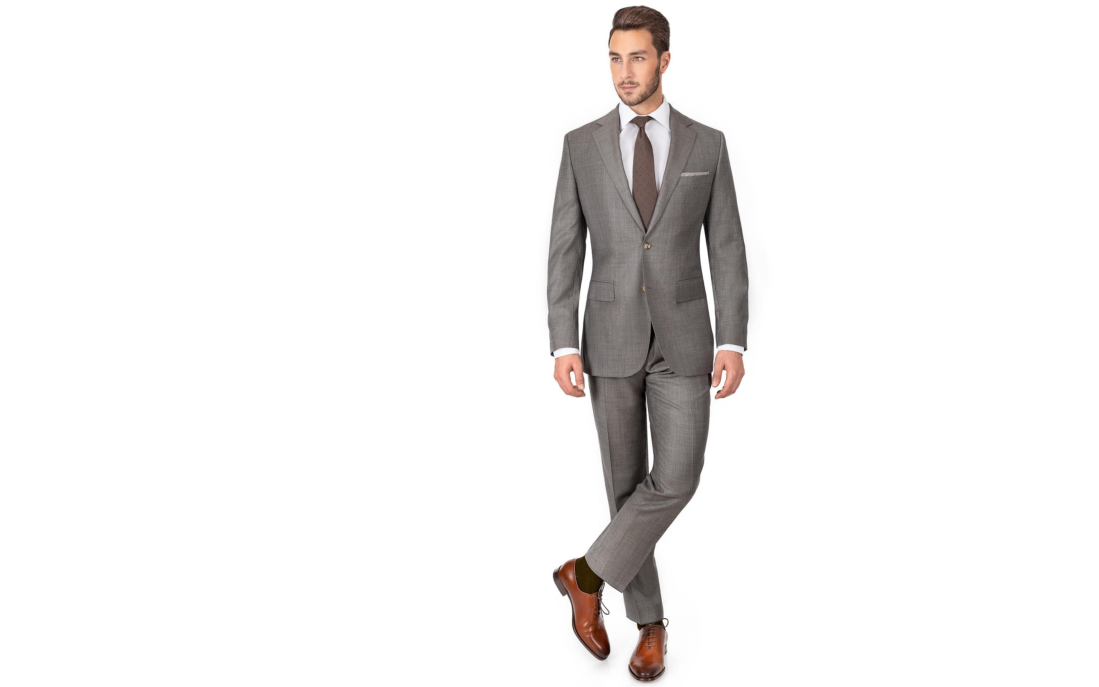 Taupe Pick & Pick Suit