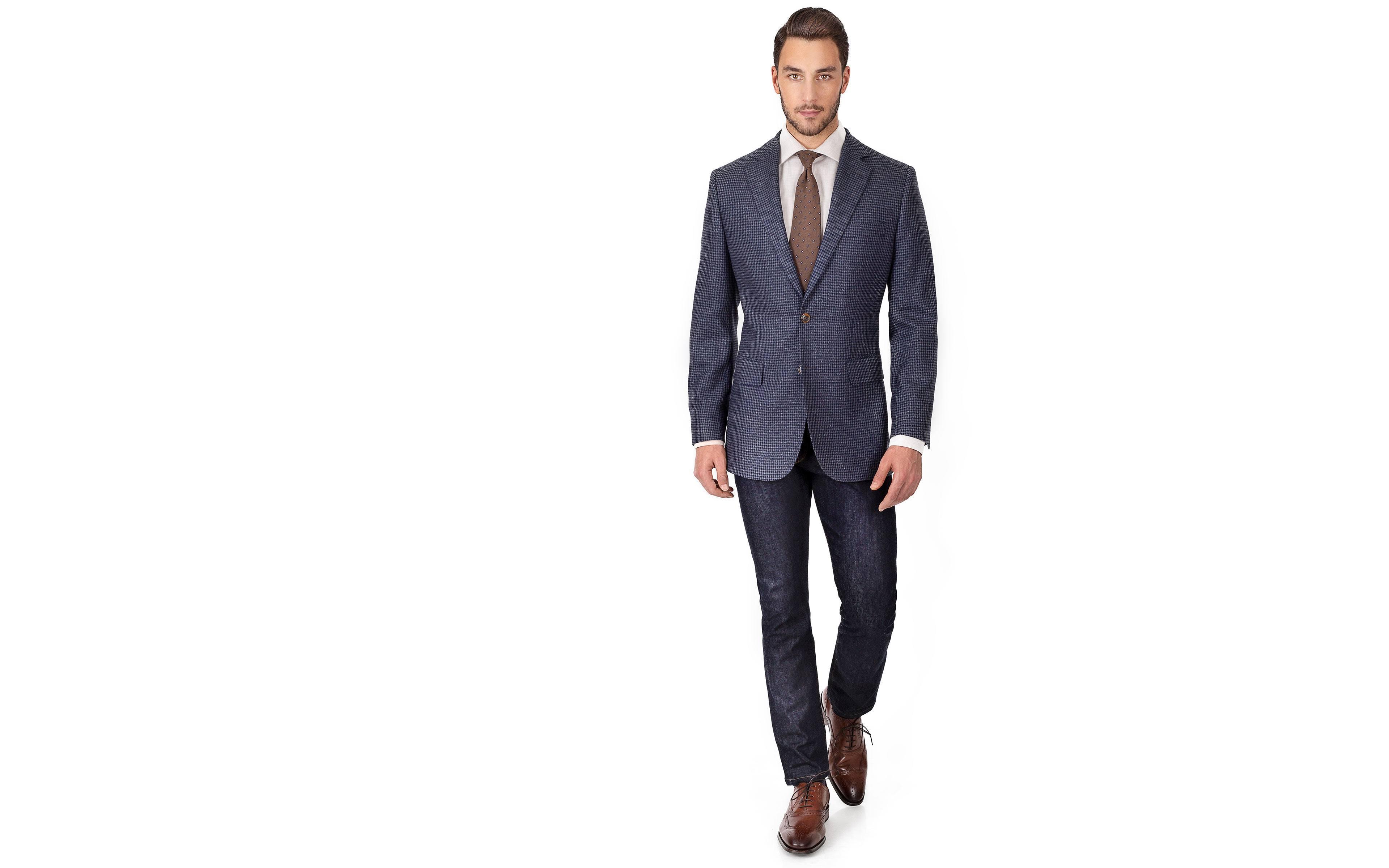 Navy & Grey Wool-Silk Sport Coat