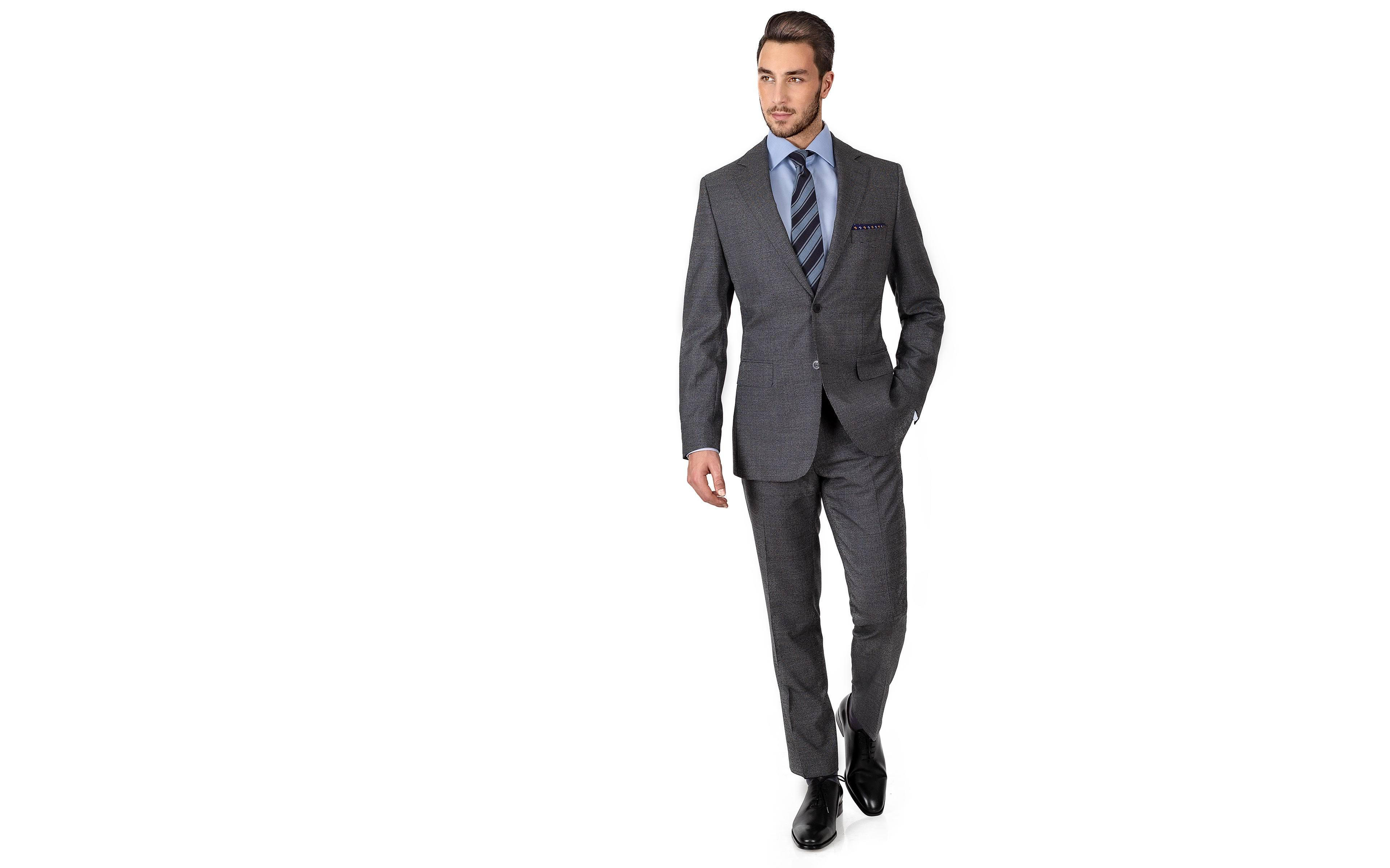 Grey Houndstooth Natural Stretch Suit