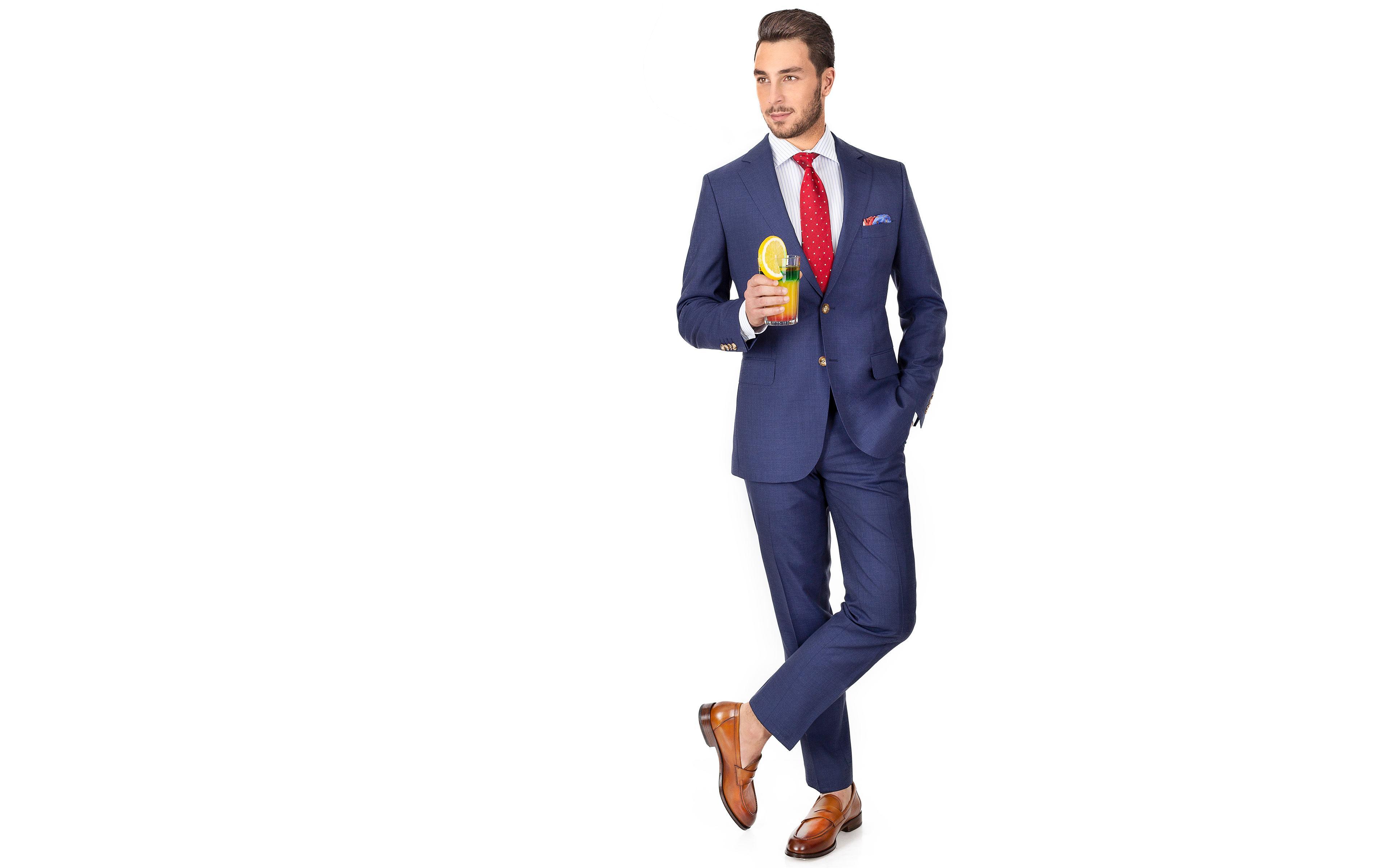 Tropical Rustic Blue Suit