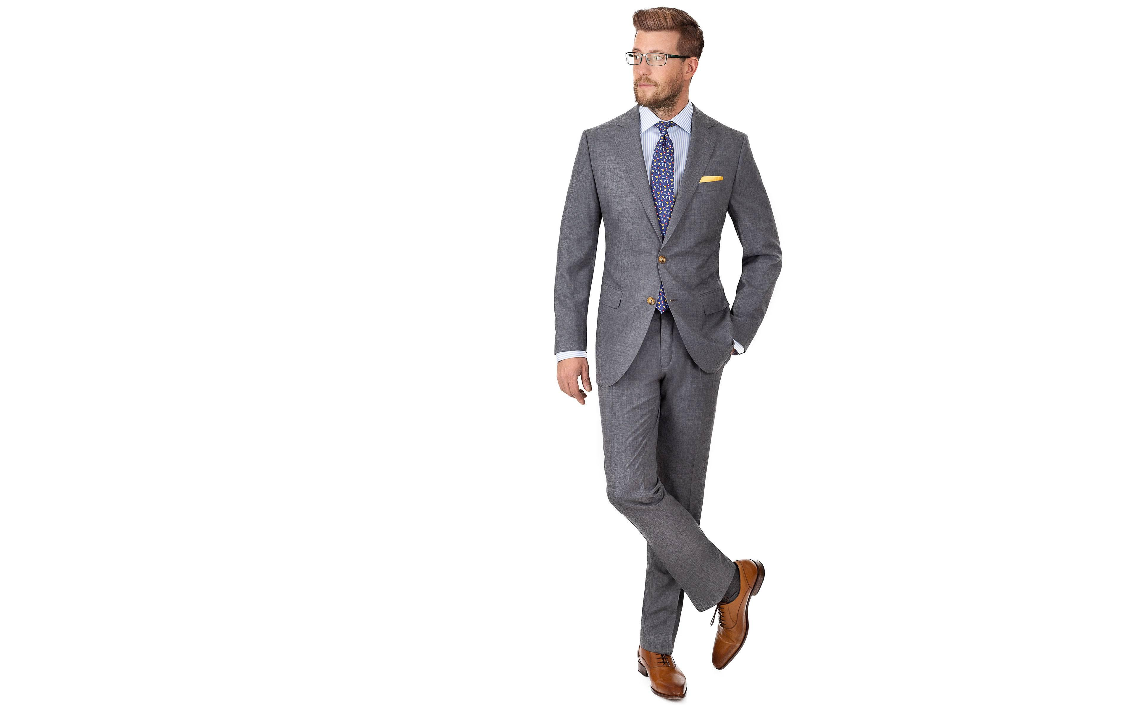 Tropical Rustic Grey Suit
